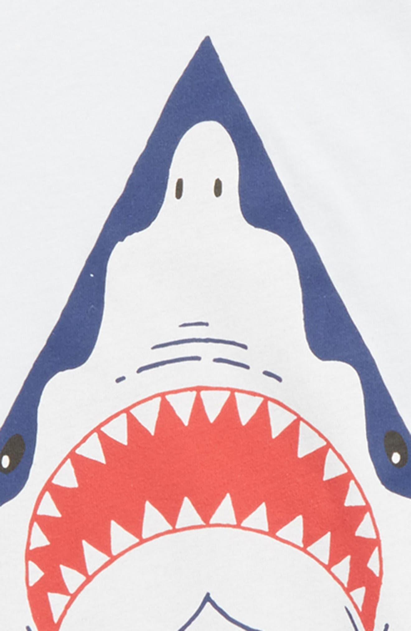 Shark Stone Graphic T-Shirt,                             Alternate thumbnail 4, color,