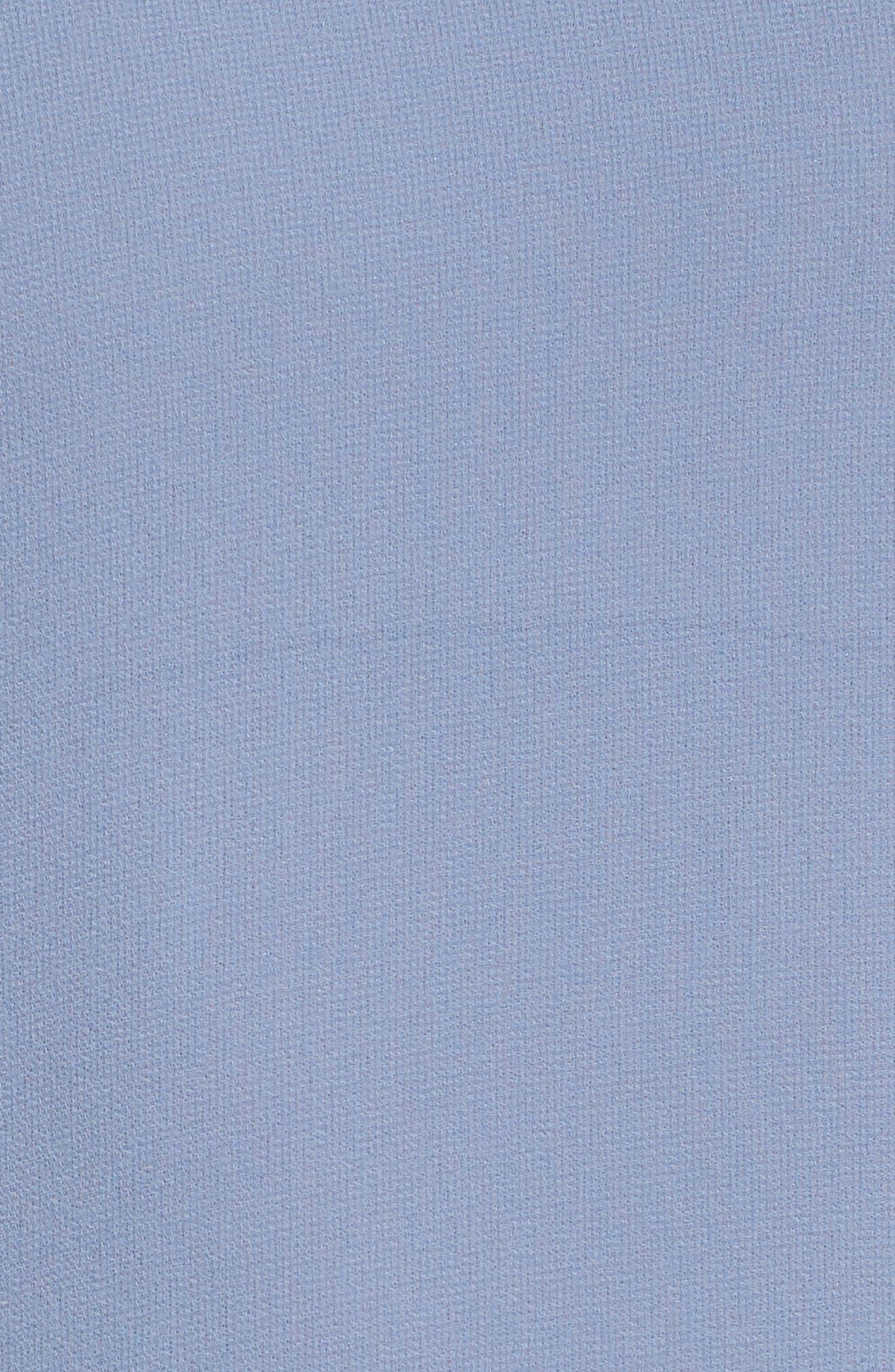 Ruffle Sleeve Halter Gown,                             Alternate thumbnail 5, color,                             420