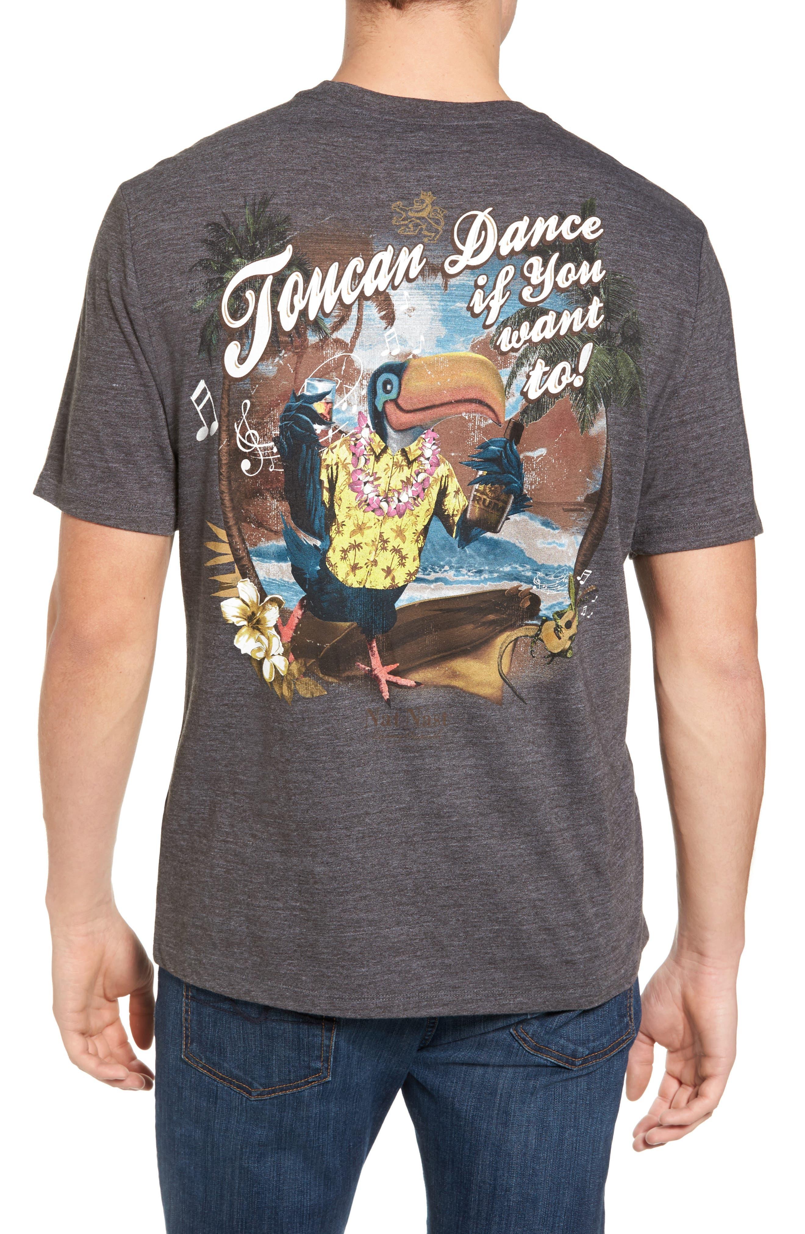 Toucan Dance Graphic T-Shirt,                             Alternate thumbnail 2, color,                             001