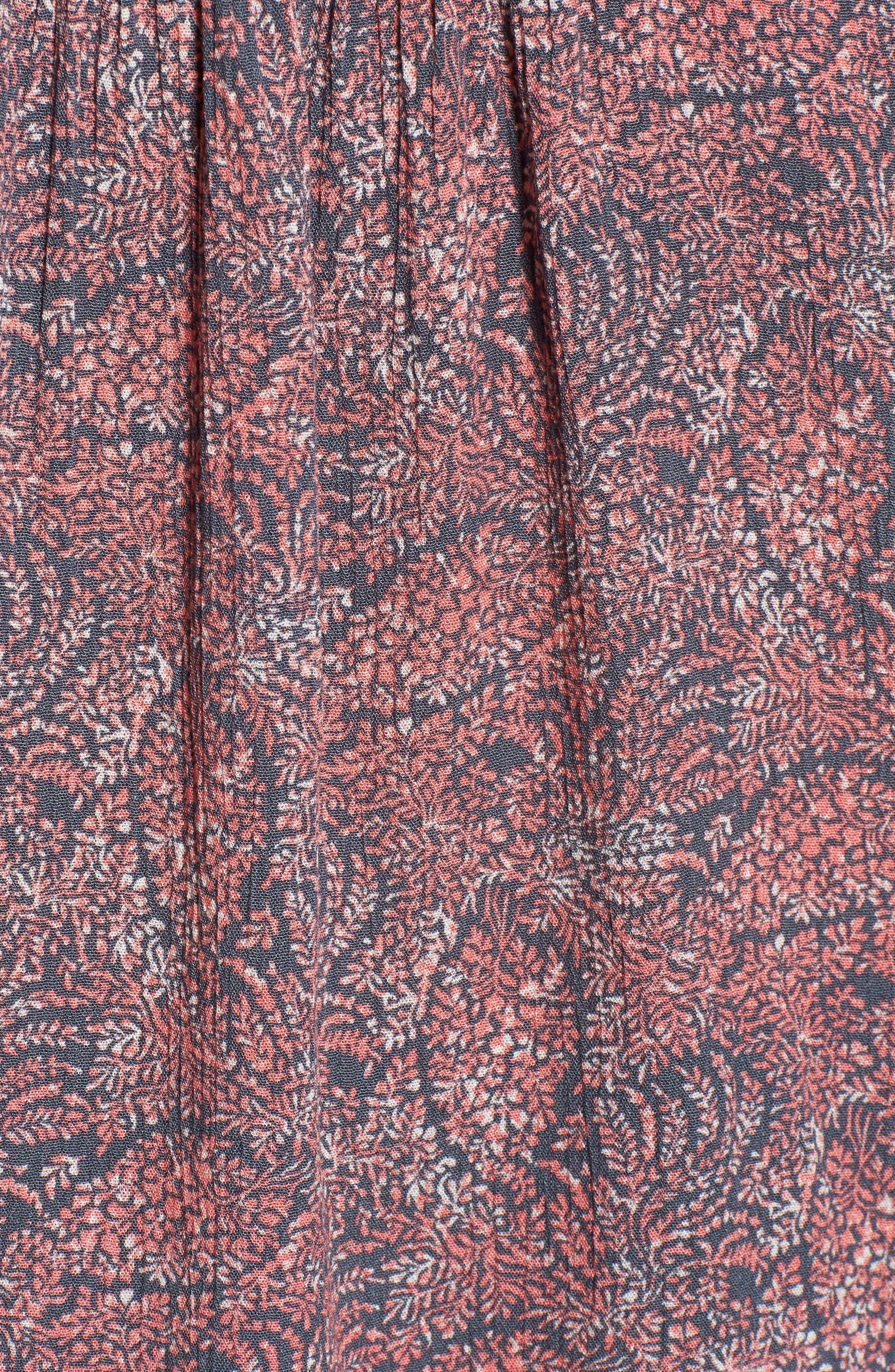 Printed Tie Sleeve Blouse,                             Alternate thumbnail 5, color,                             420