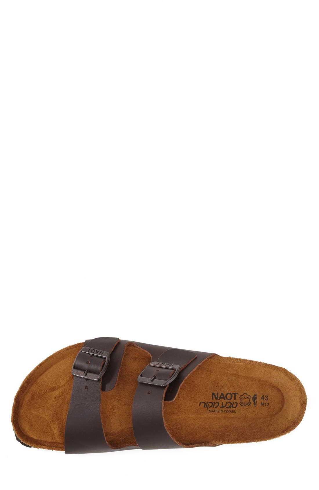 Santa Barbara Slide Sandal,                             Alternate thumbnail 3, color,                             BUFFALO LEATHER