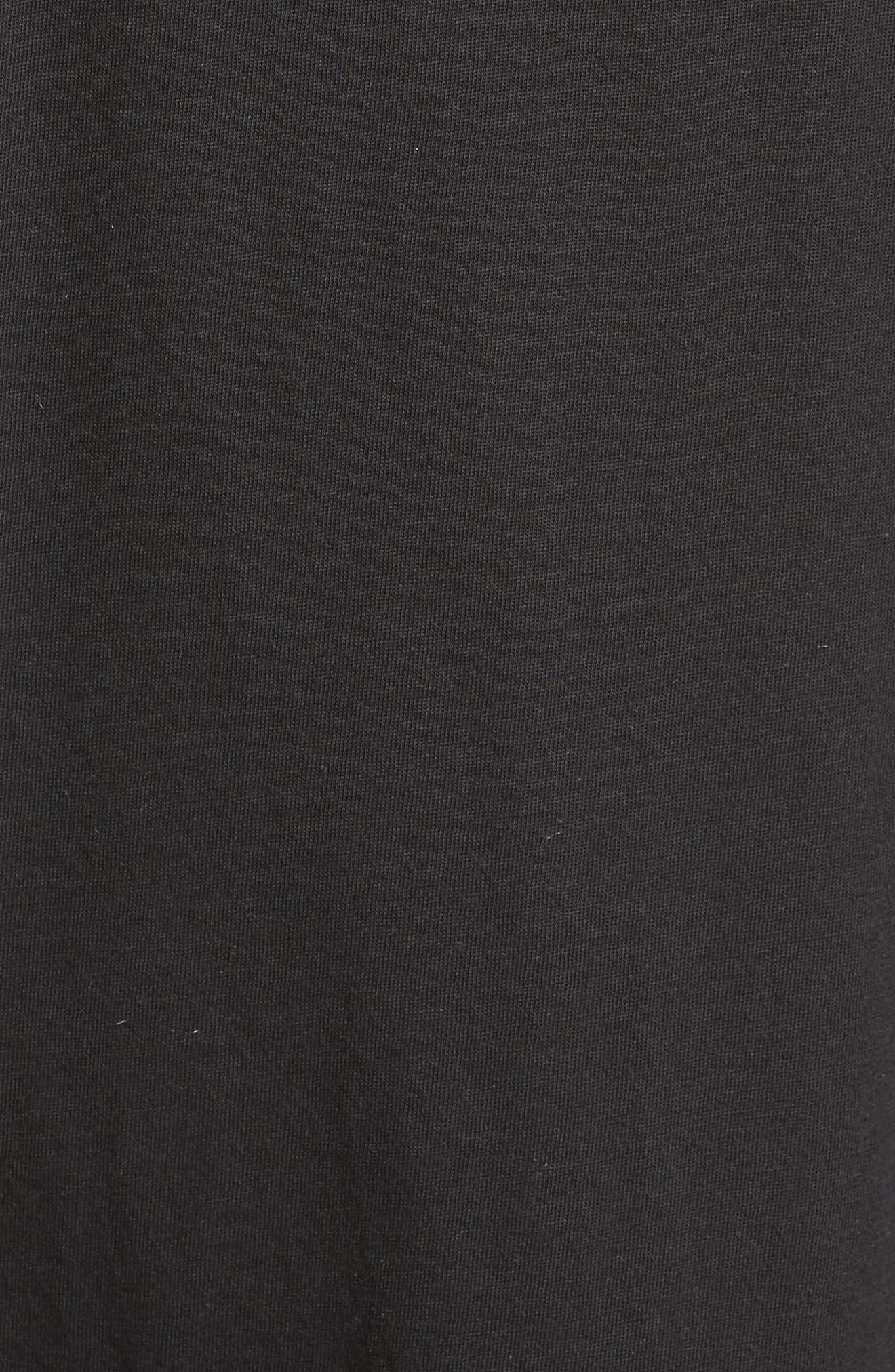 Jersey Chemise,                             Alternate thumbnail 5, color,                             001