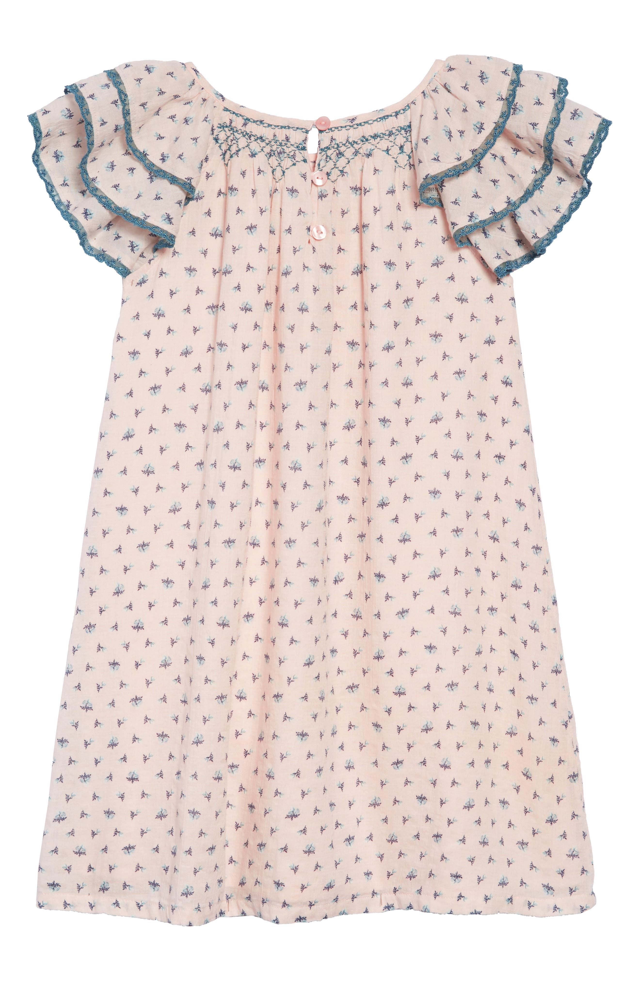 Tiered Sleeve Dress,                             Alternate thumbnail 2, color,                             PINK CHINTZ PRIM FLORAL