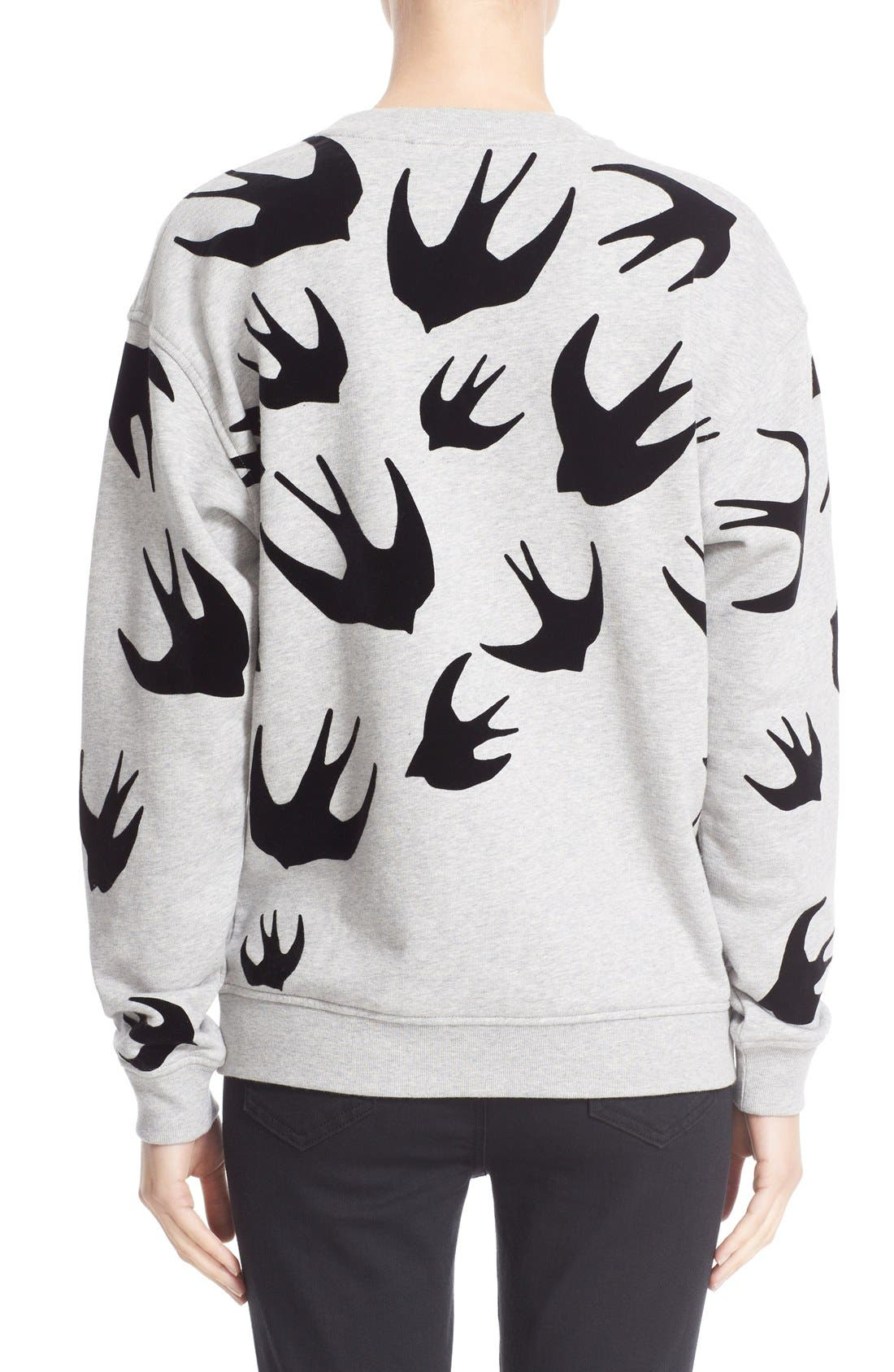 Flocked Swallow Sweatshirt,                             Alternate thumbnail 2, color,                             020