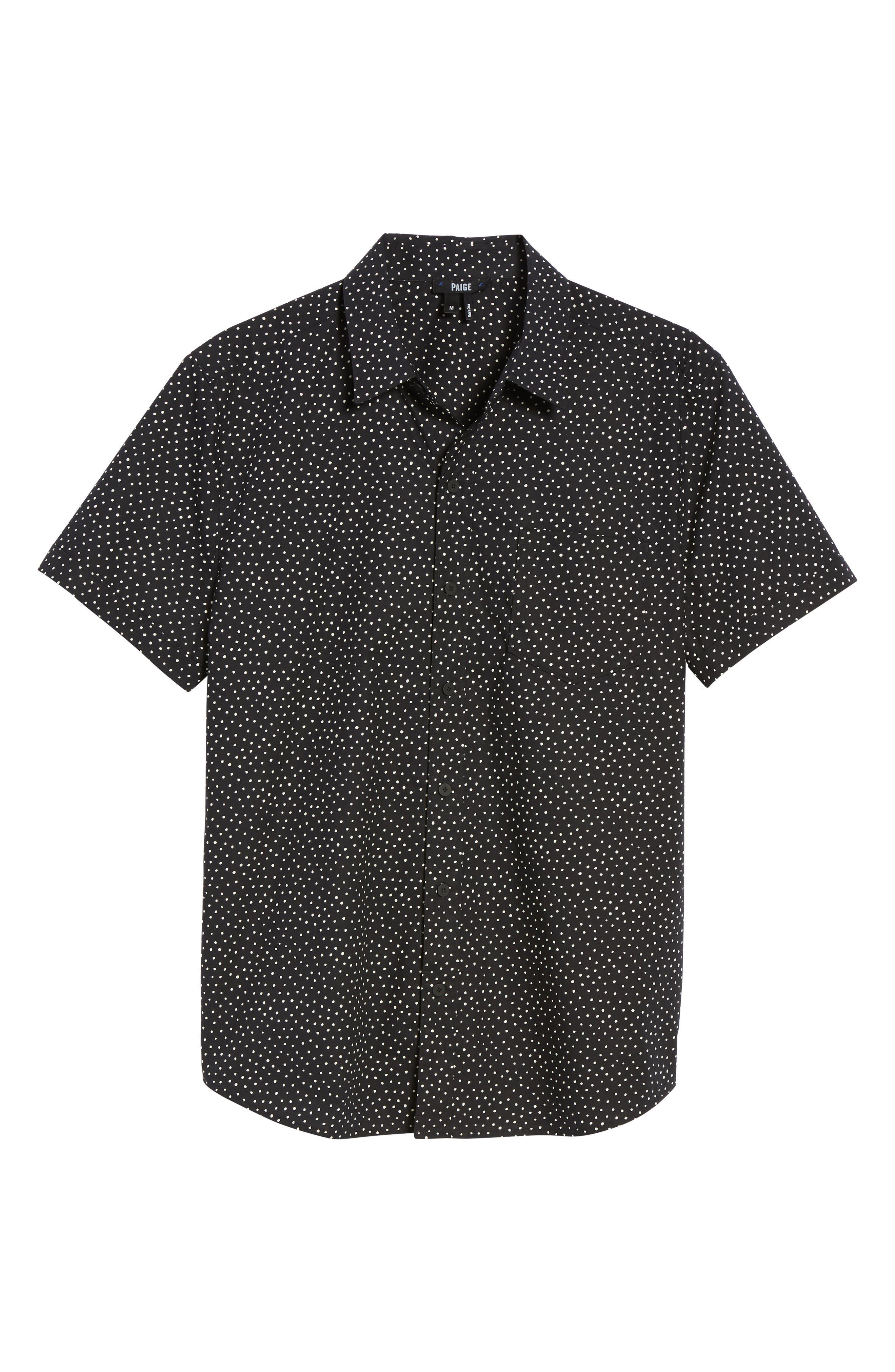 Becker Dot Print Woven Shirt,                             Alternate thumbnail 11, color,
