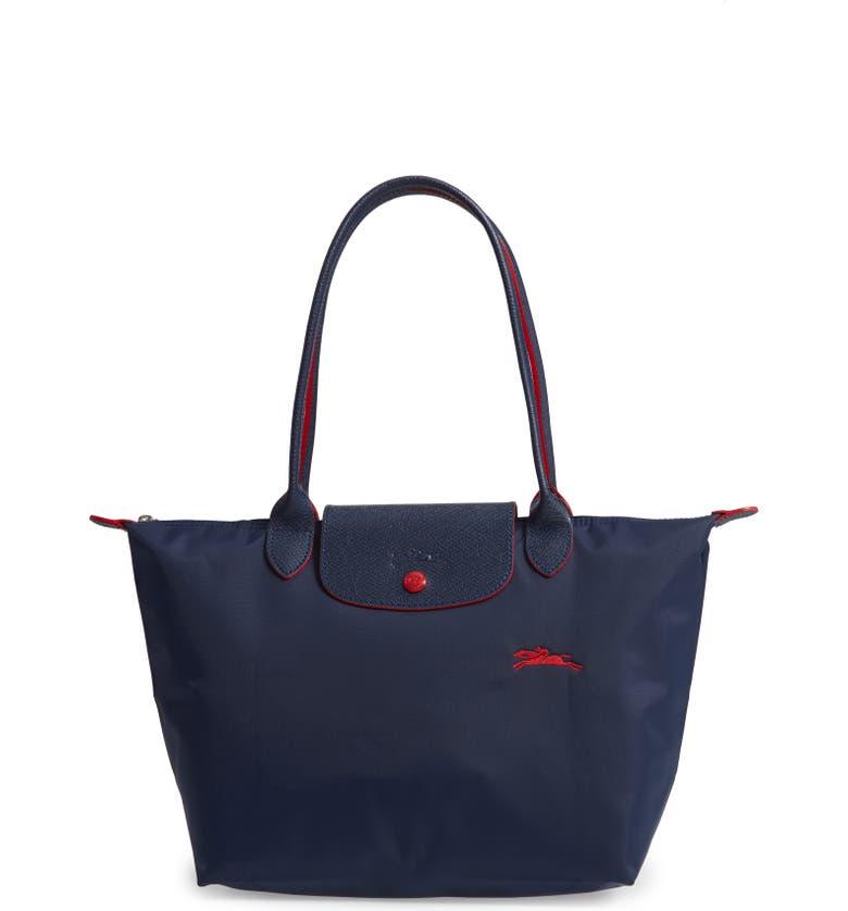 bd944fbe0cfbc Longchamp Le Pliage Club Medium Shoulder Tote - Blue In 556 Blu Navy ...