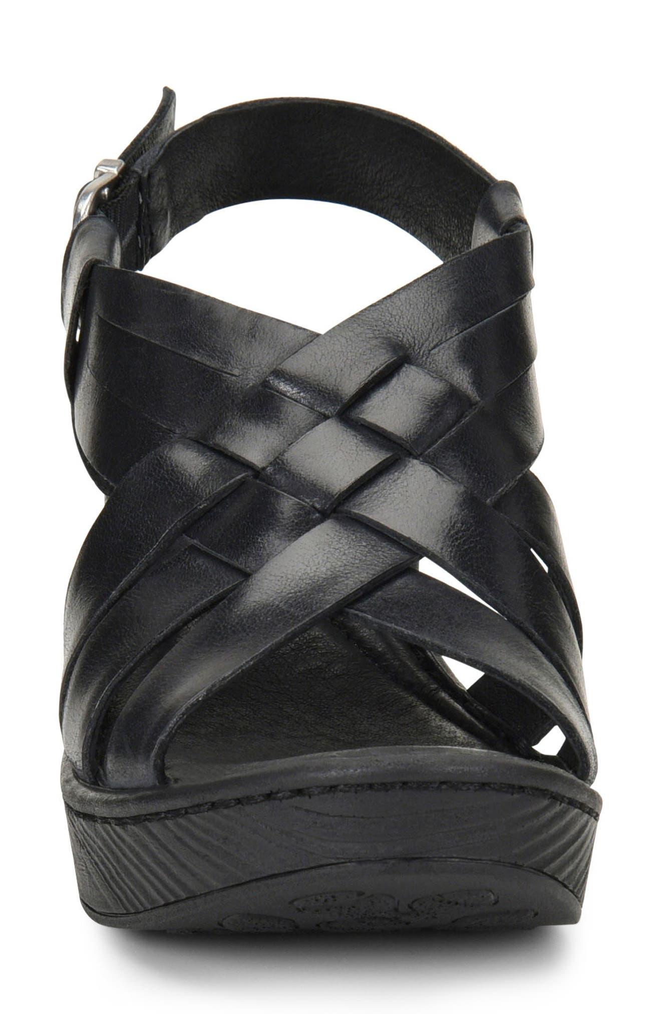 BØRN,                             Crevalle Platform Sandal,                             Alternate thumbnail 4, color,                             001