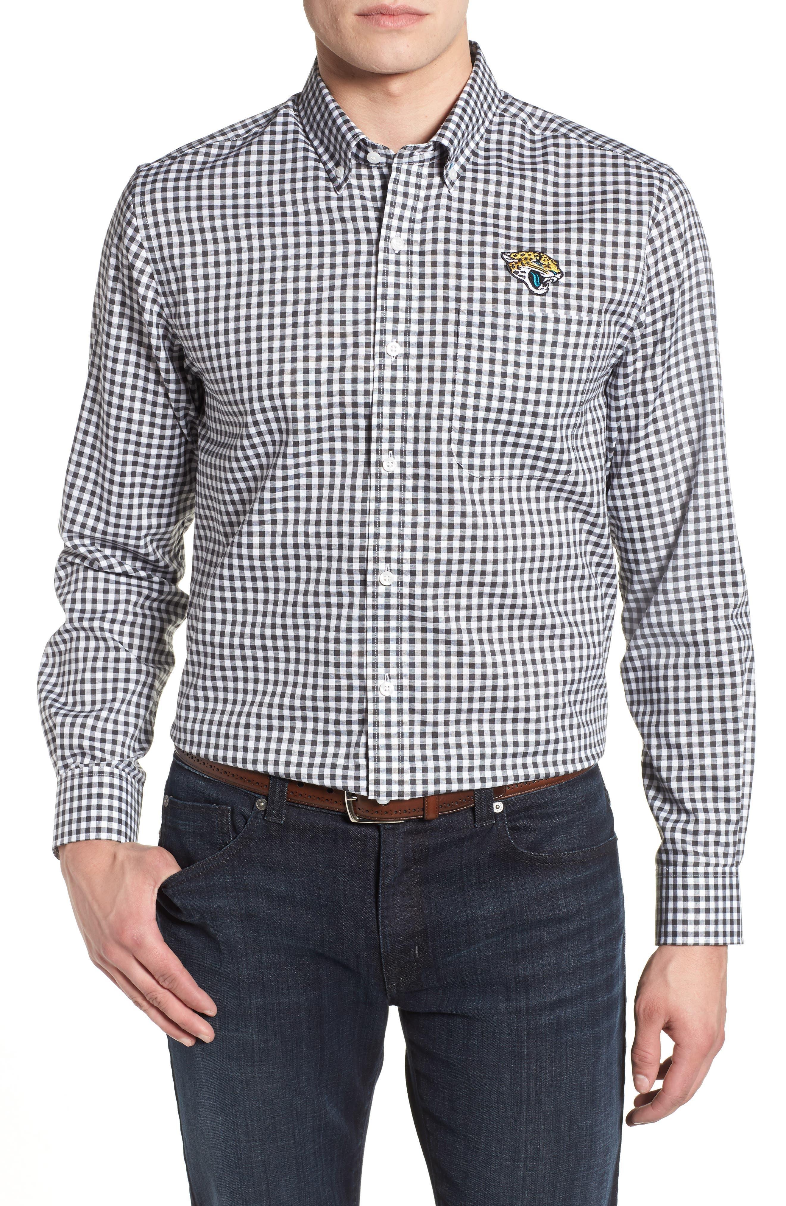 League Jacksonville Jaguars Regular Fit Shirt,                         Main,                         color, CHARCOAL