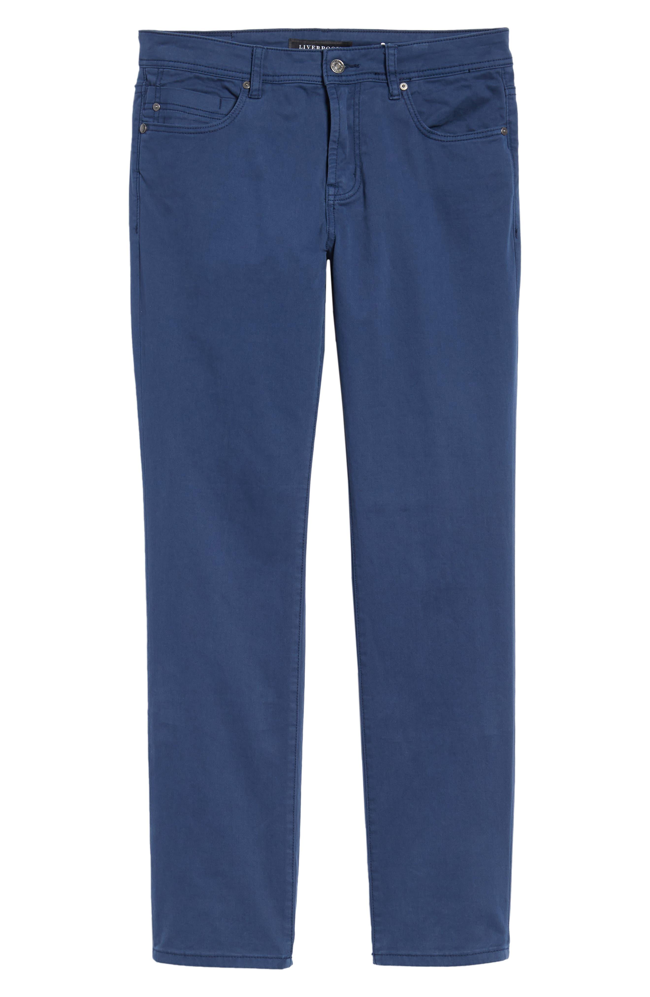 Jeans Co. Regent Relaxed Straight Leg Jeans,                             Alternate thumbnail 6, color,                             BLUE TWILIGHT