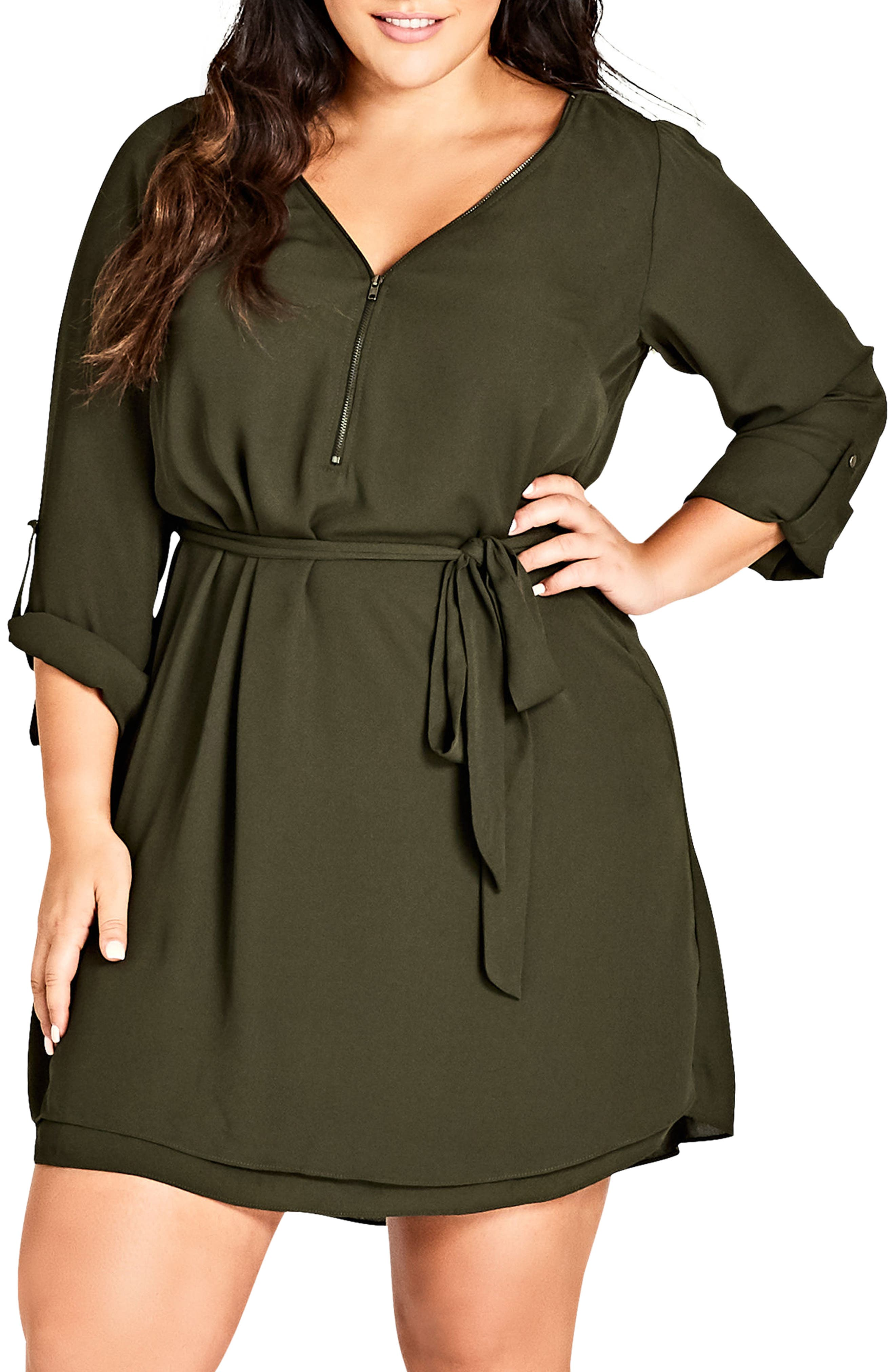 Zip Tunic Dress,                             Main thumbnail 1, color,                             311