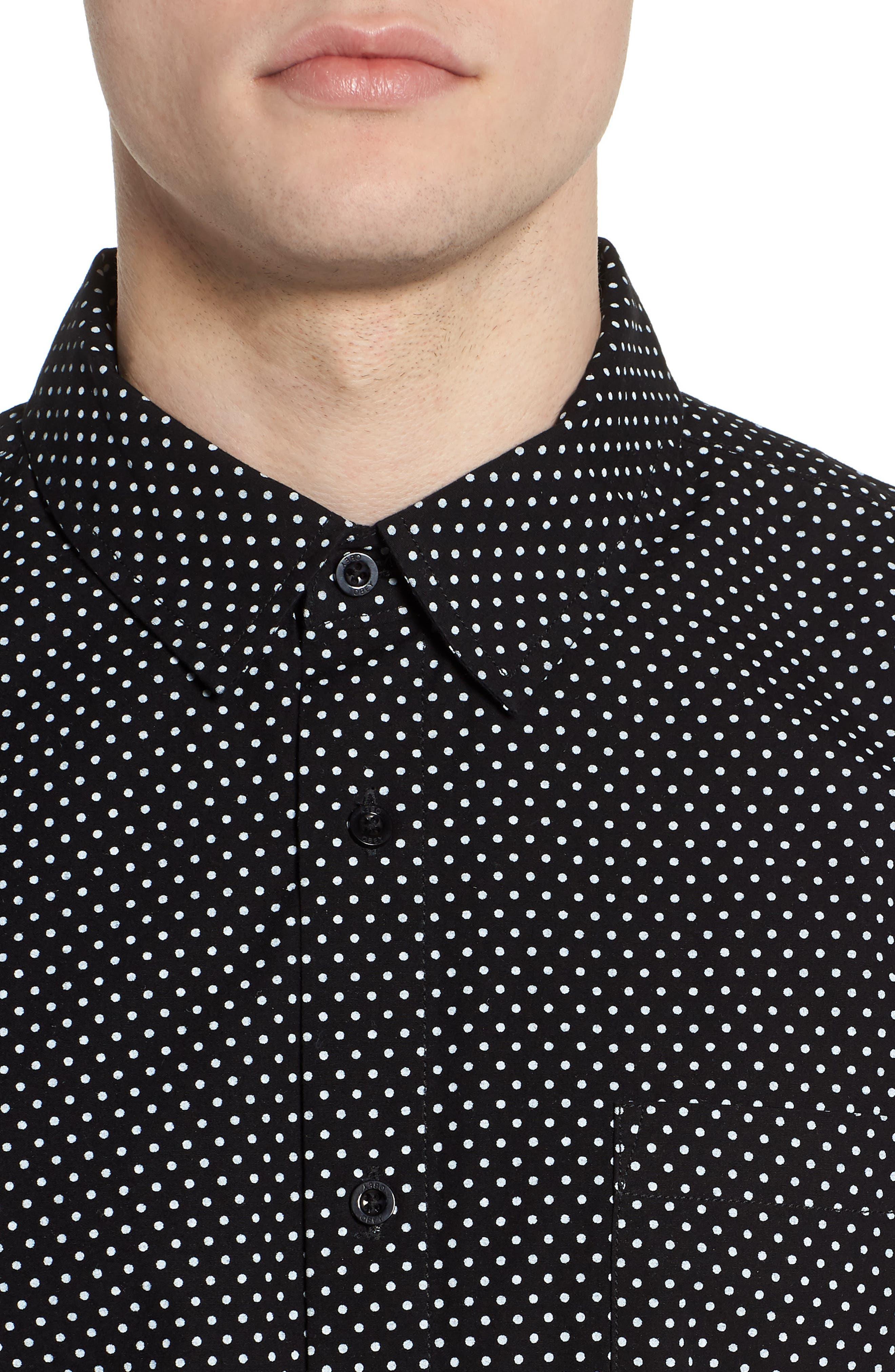 Brozwell Short Sleeve Shirt,                             Alternate thumbnail 4, color,                             001