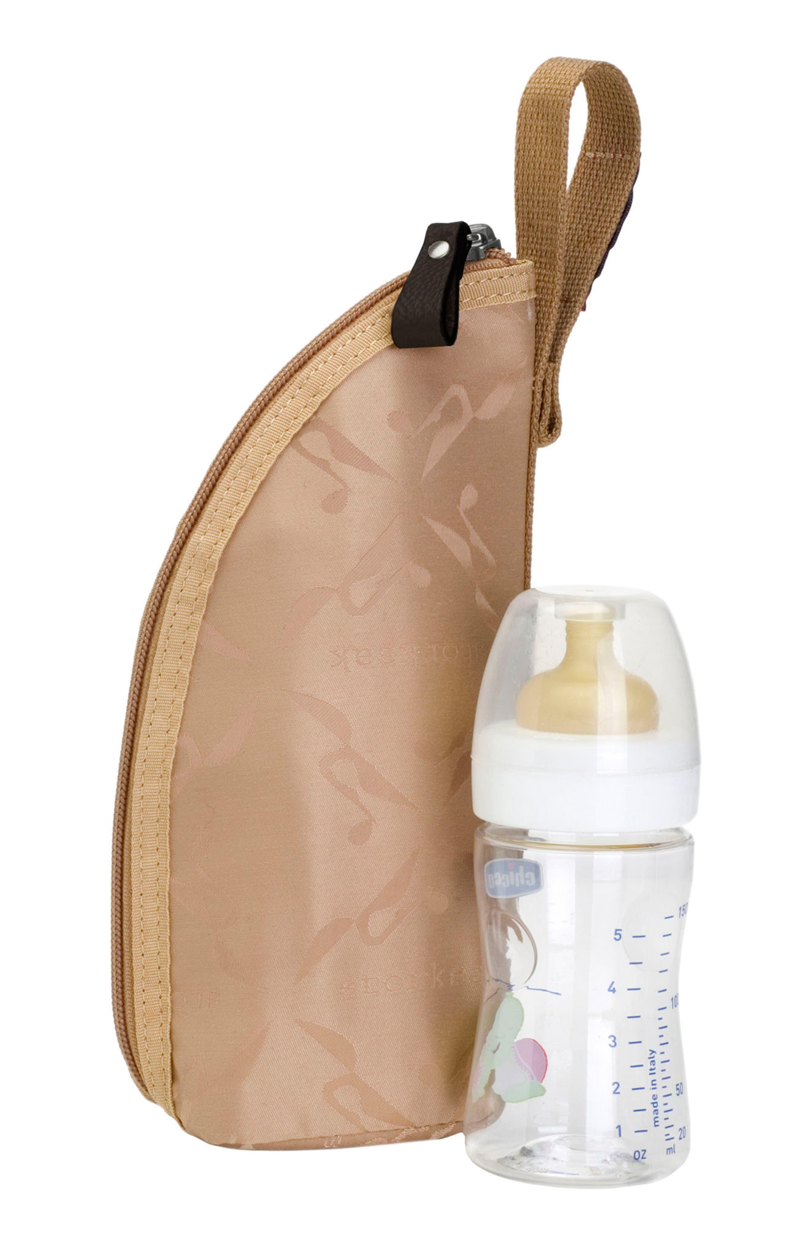 Kym Calfskin Leather Diaper Tote Bag,                             Alternate thumbnail 10, color,                             BLACK