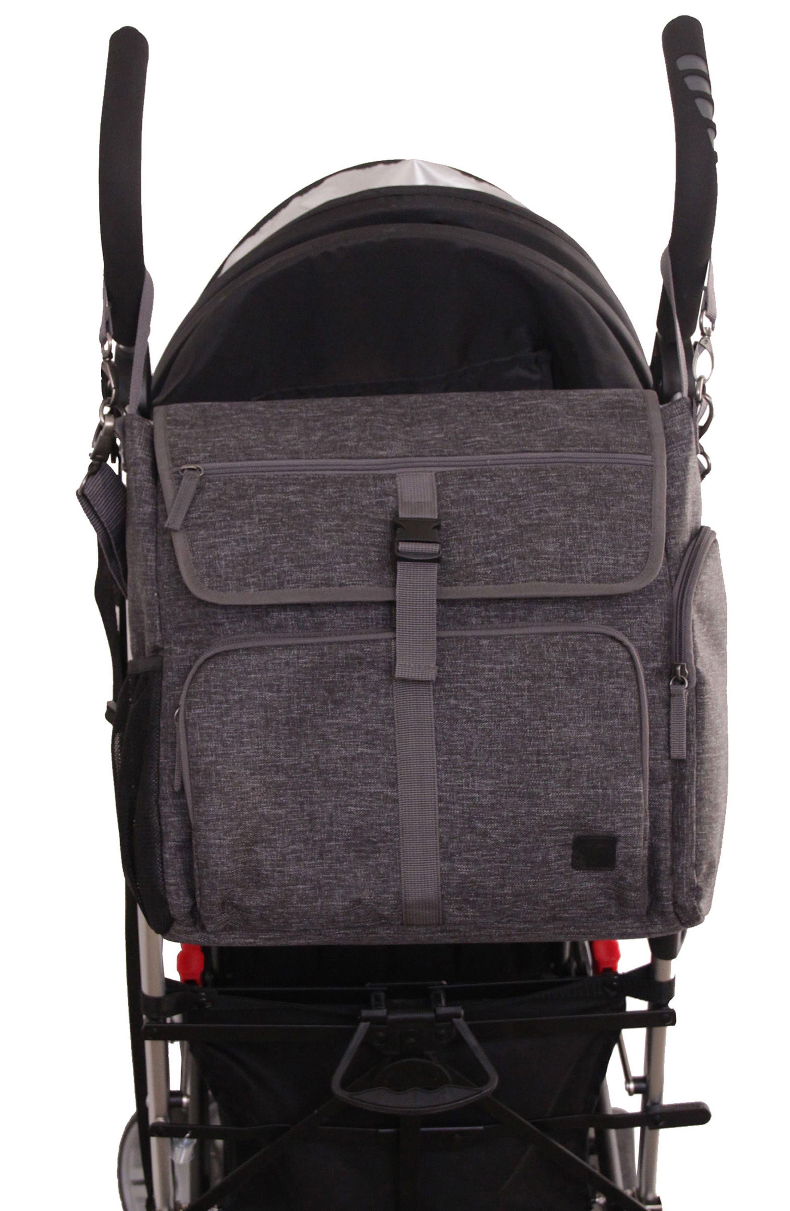 Convertible Diaper Backpack,                             Alternate thumbnail 7, color,                             001