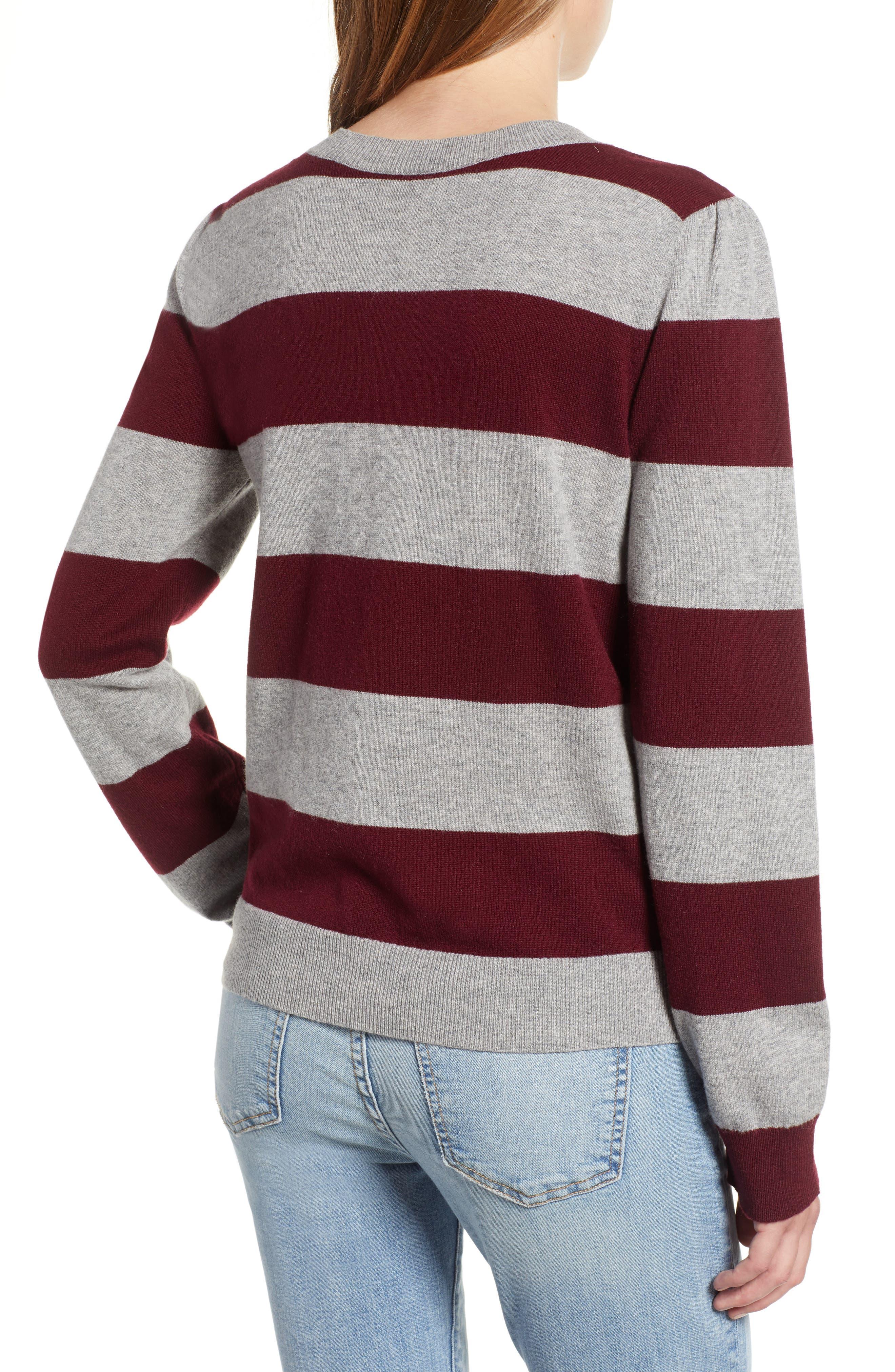 Tara Stripe Cashmere Sweater,                             Alternate thumbnail 2, color,                             604