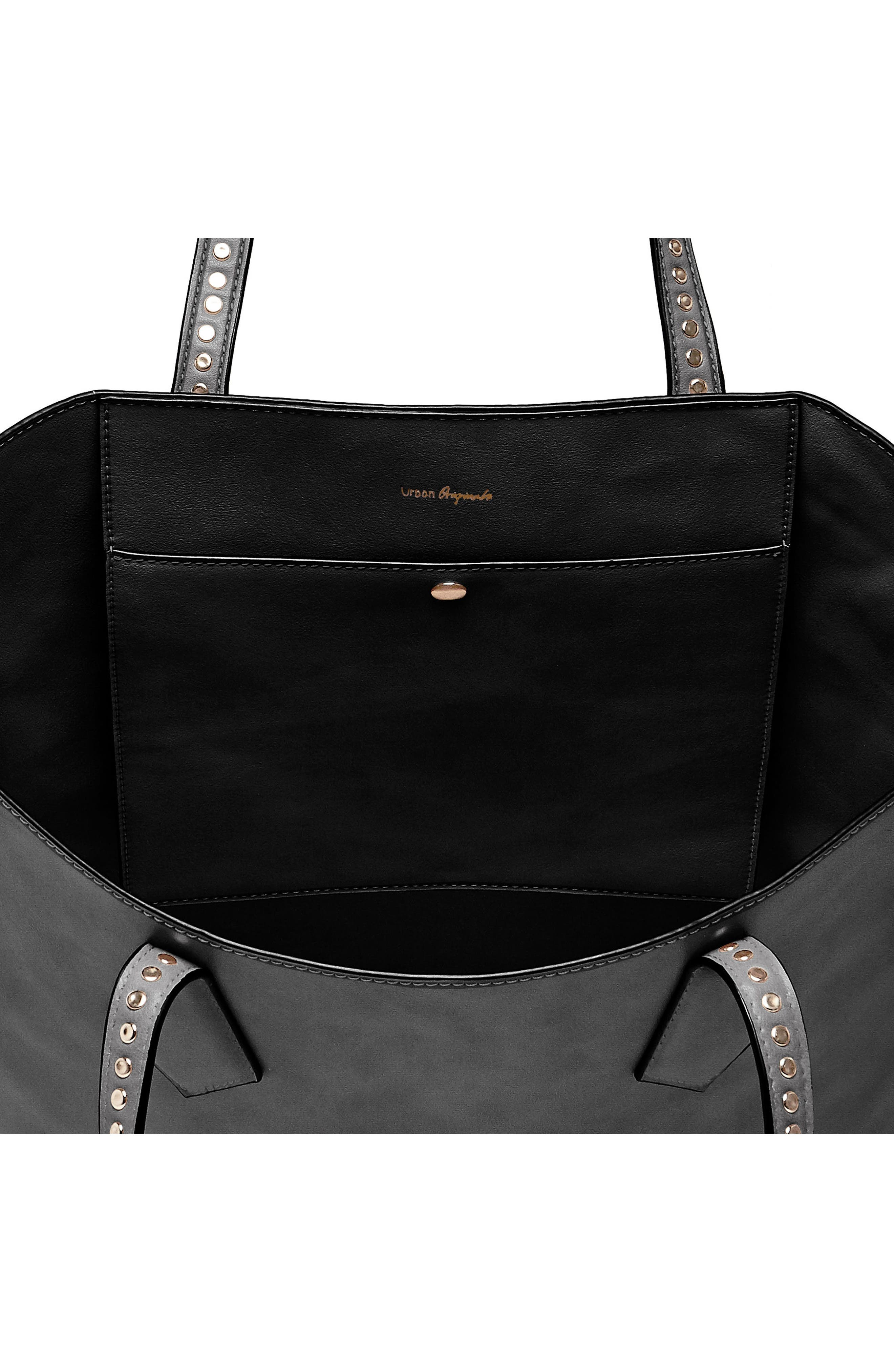 Midnight Hour Vegan Leather Tote,                             Alternate thumbnail 2, color,                             001