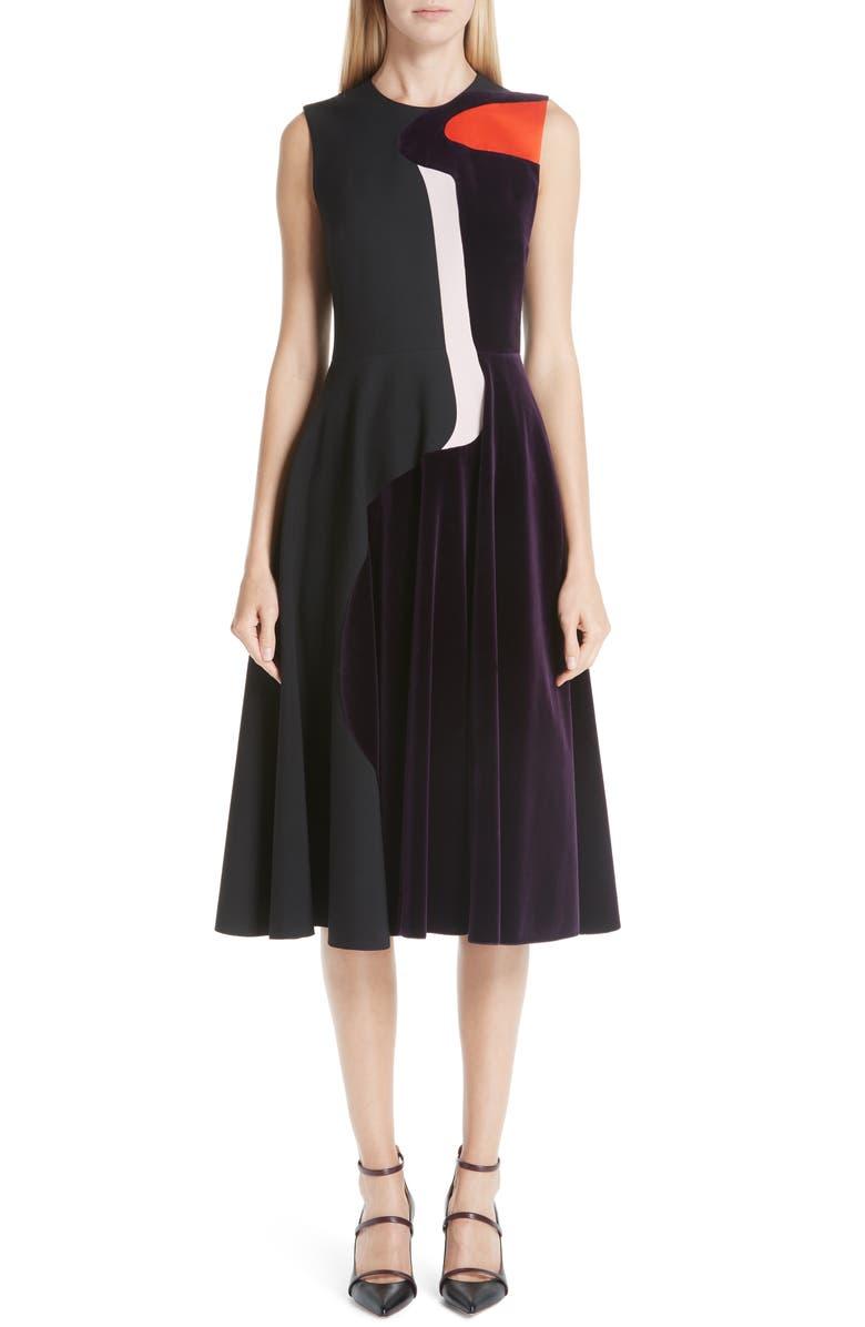 Roksanda VELVET & CADY FIT & FLARE DRESS