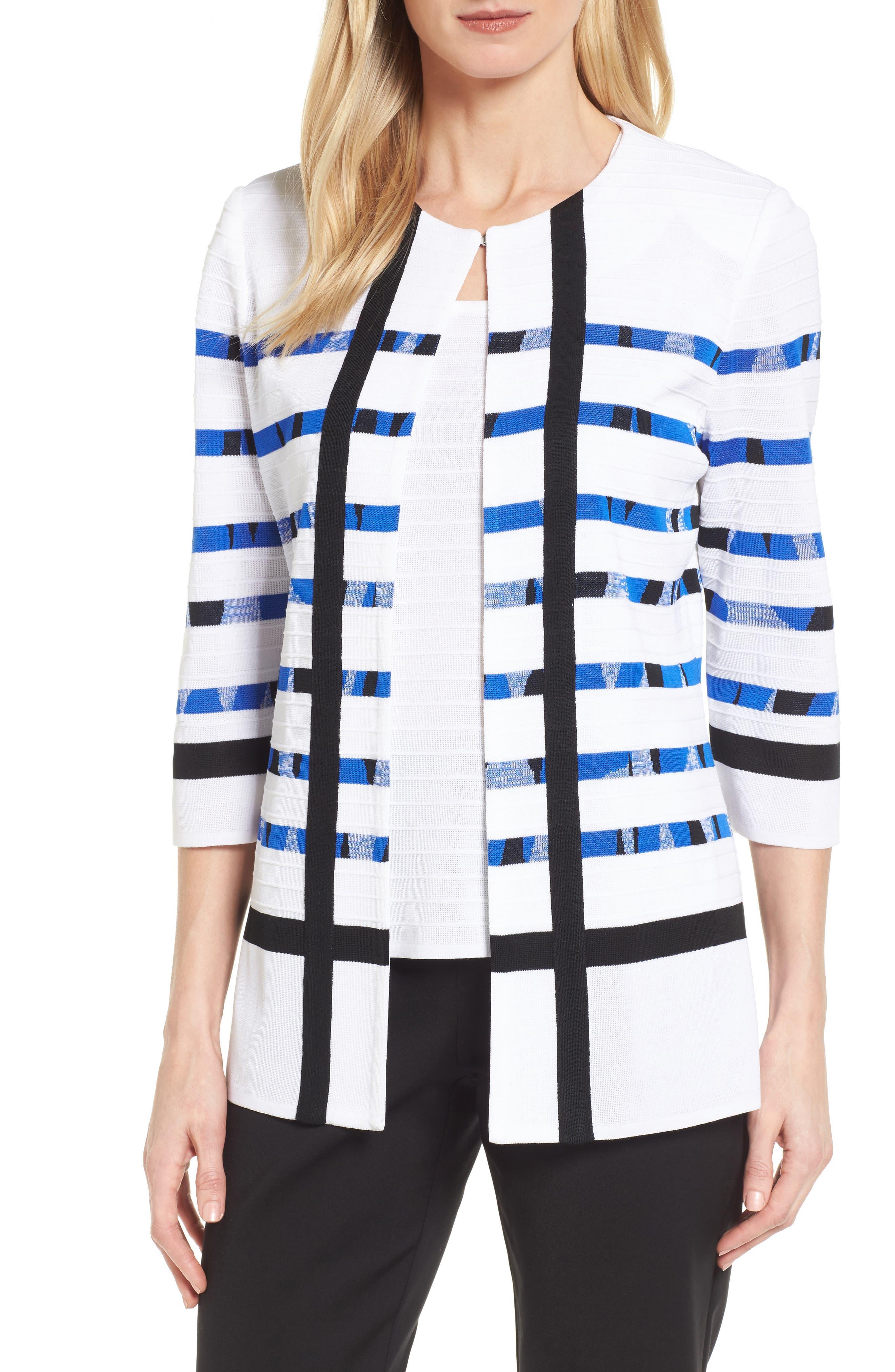Stripe Cardigan,                         Main,                         color, 117