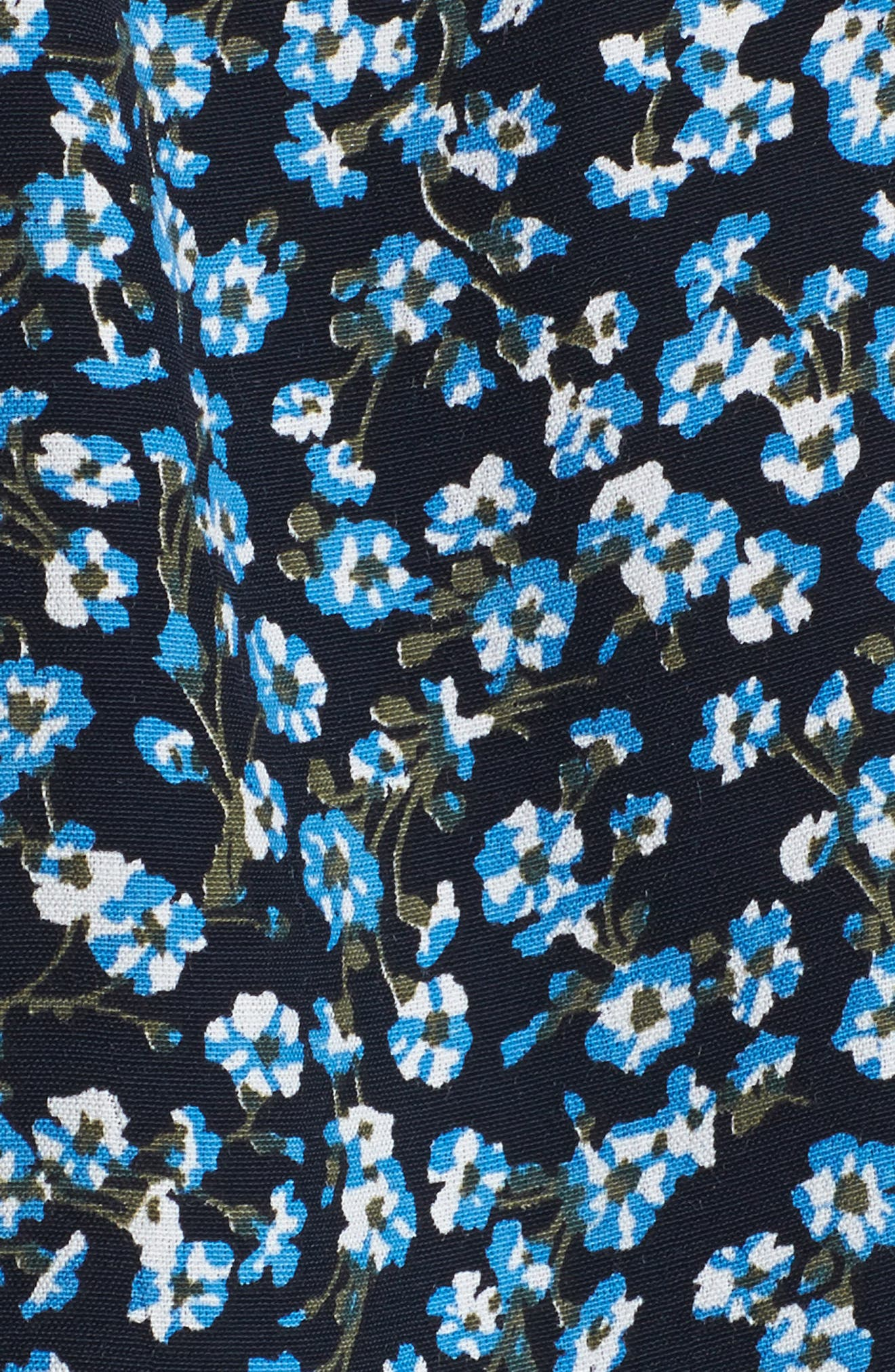 Oslo Floral Wrap Dress,                             Alternate thumbnail 5, color,                             400