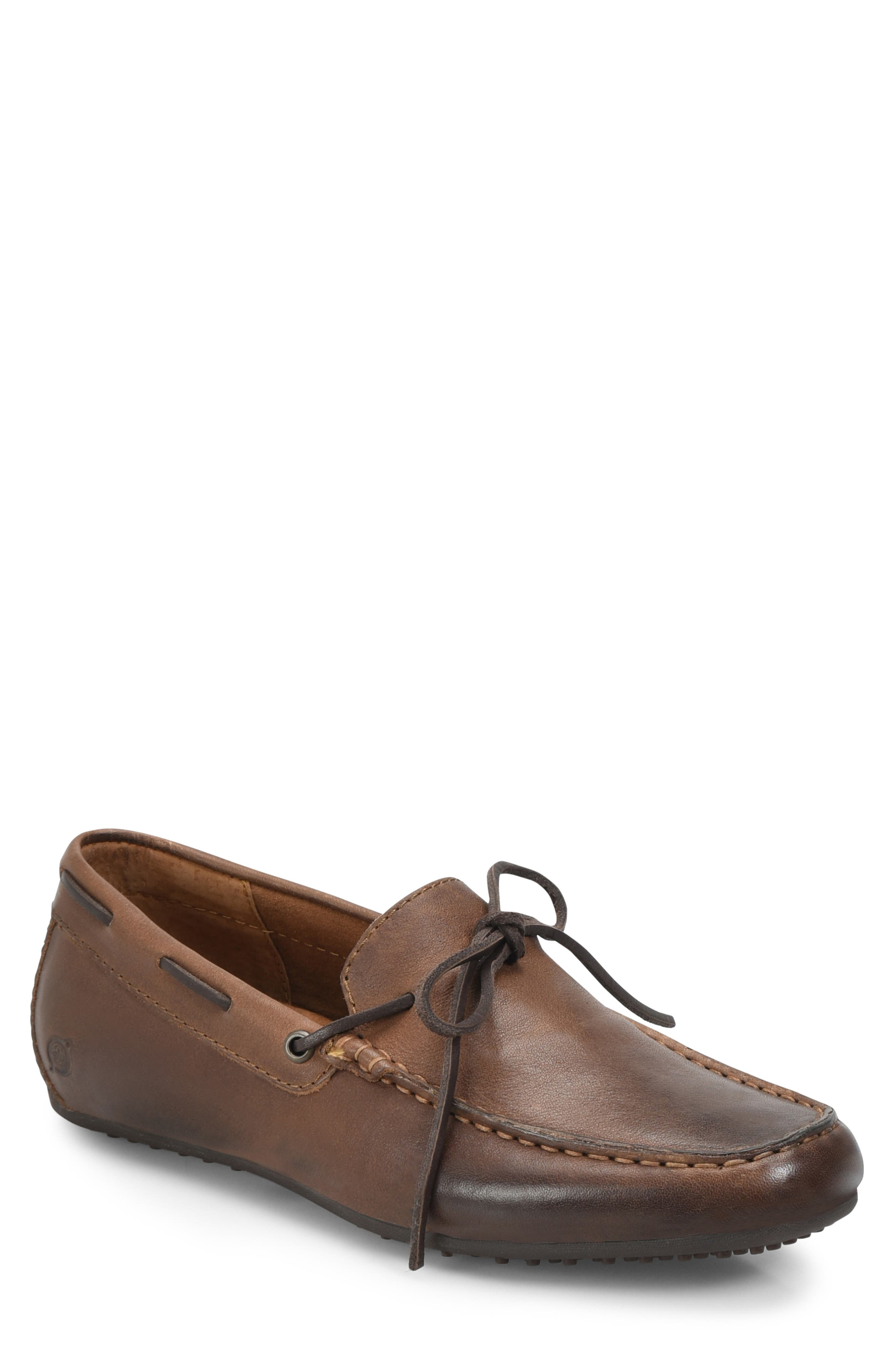 Virgo Driving Shoe,                         Main,                         color, BROWN/BROWN LEATHER