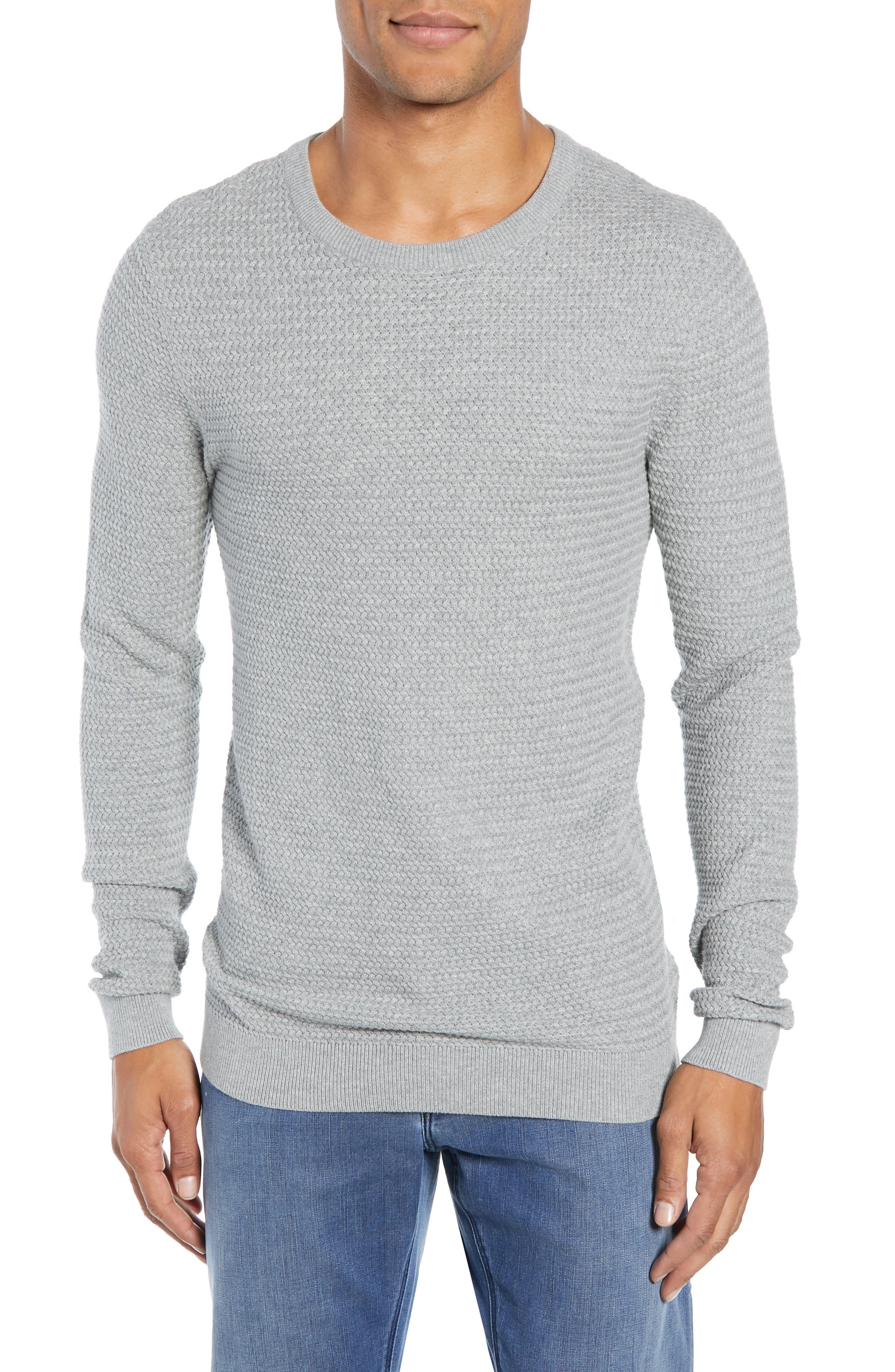 Martin Regular Fit Crewneck Sweater,                             Main thumbnail 1, color,                             MEDIUM GREY