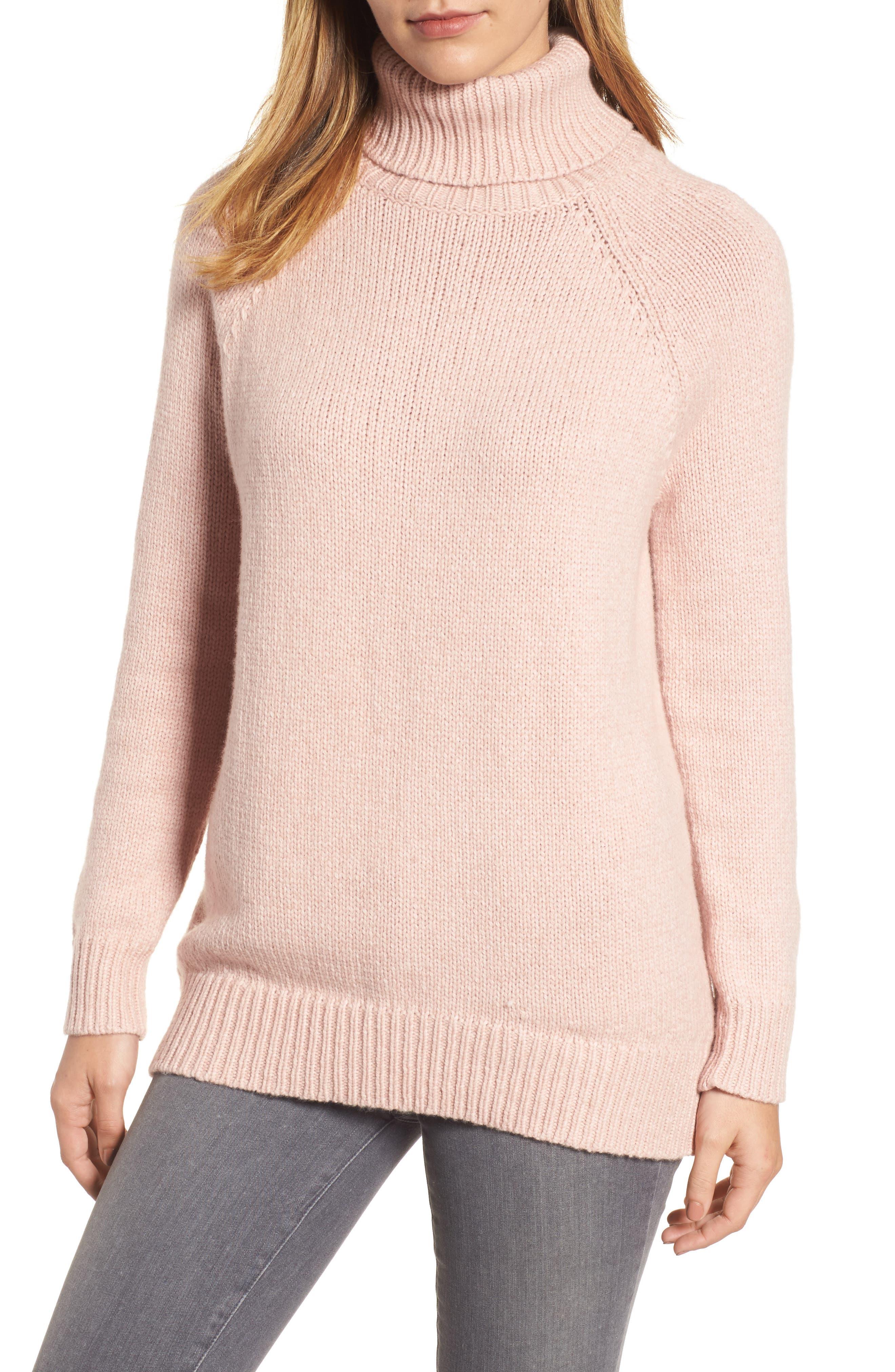 Textured Turtleneck Sweater,                             Main thumbnail 2, color,