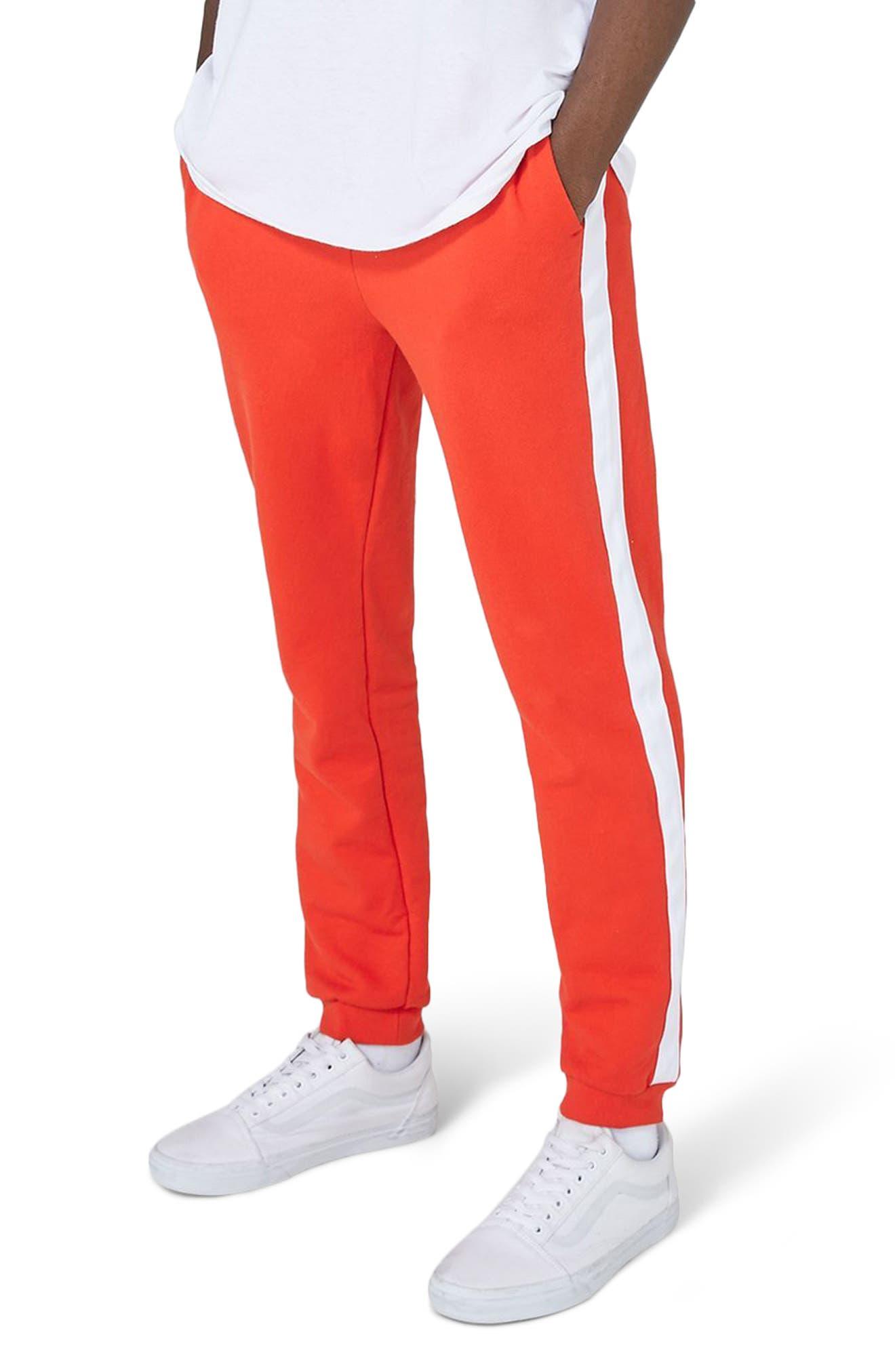Side Tape Skinny Fit Jogger Pants,                             Main thumbnail 1, color,                             600