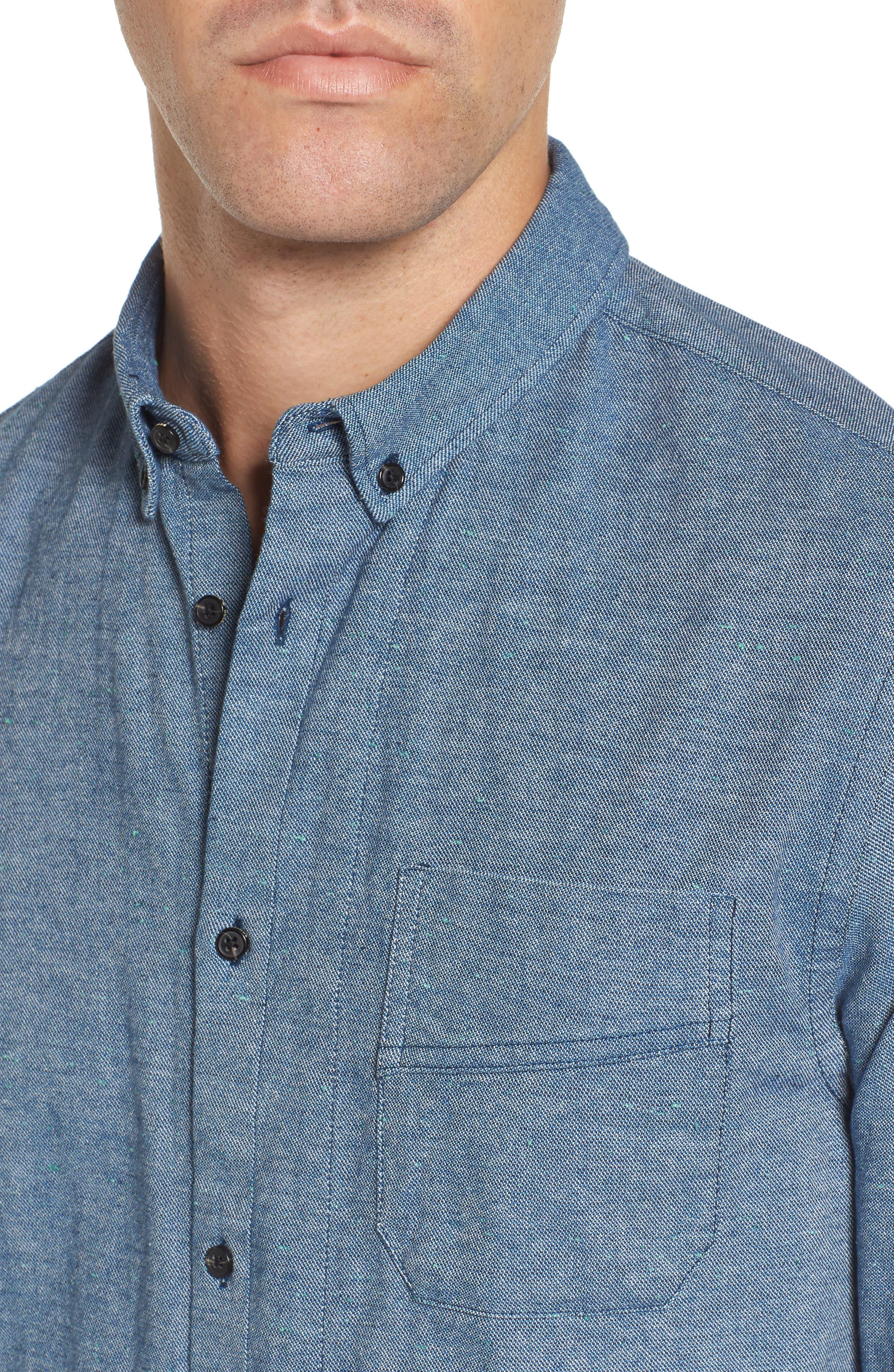 Chambray Shirt,                             Alternate thumbnail 8, color,