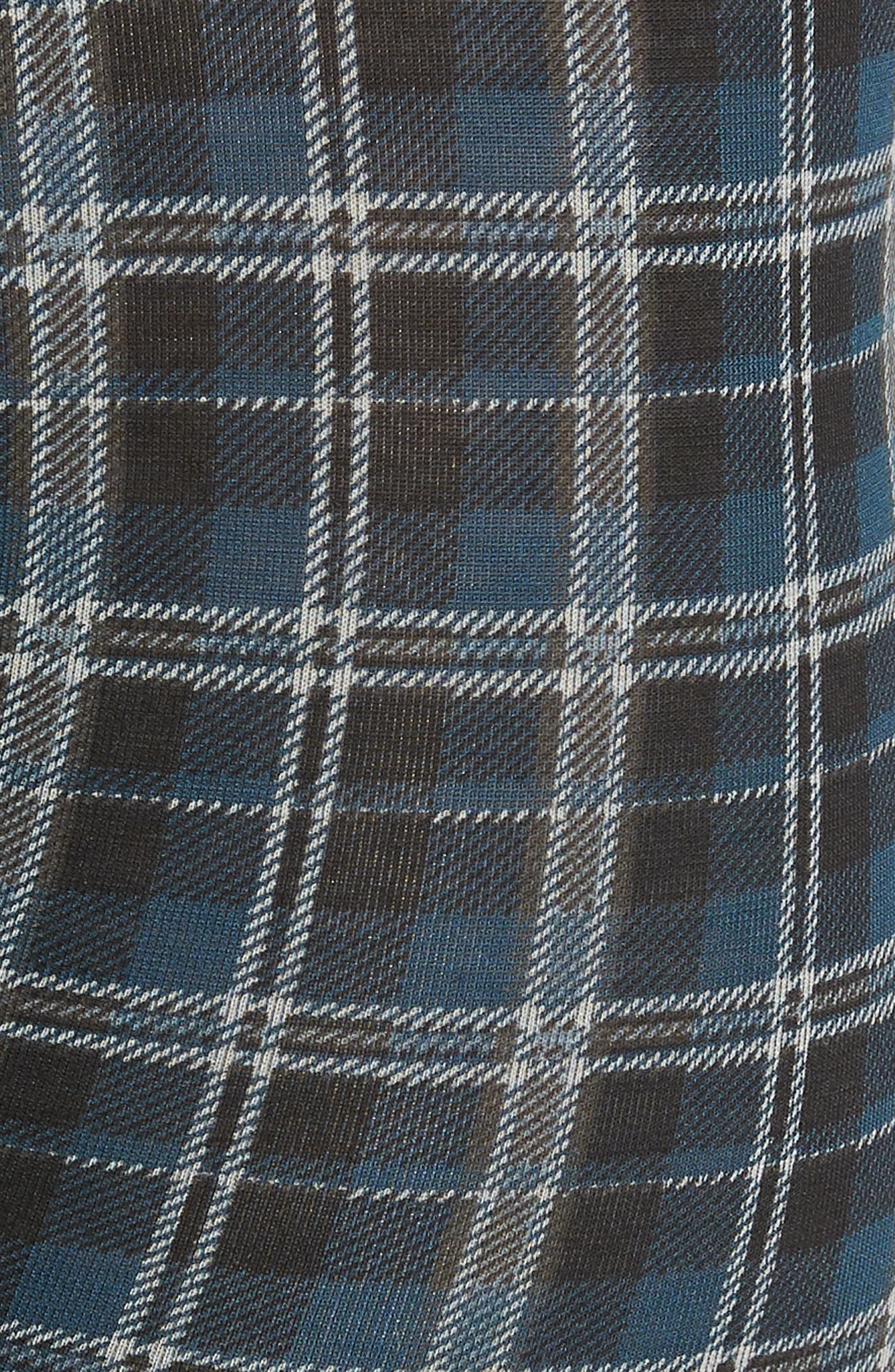 Second Skin Plaid Trunks,                             Alternate thumbnail 5, color,                             REFLECTING POND