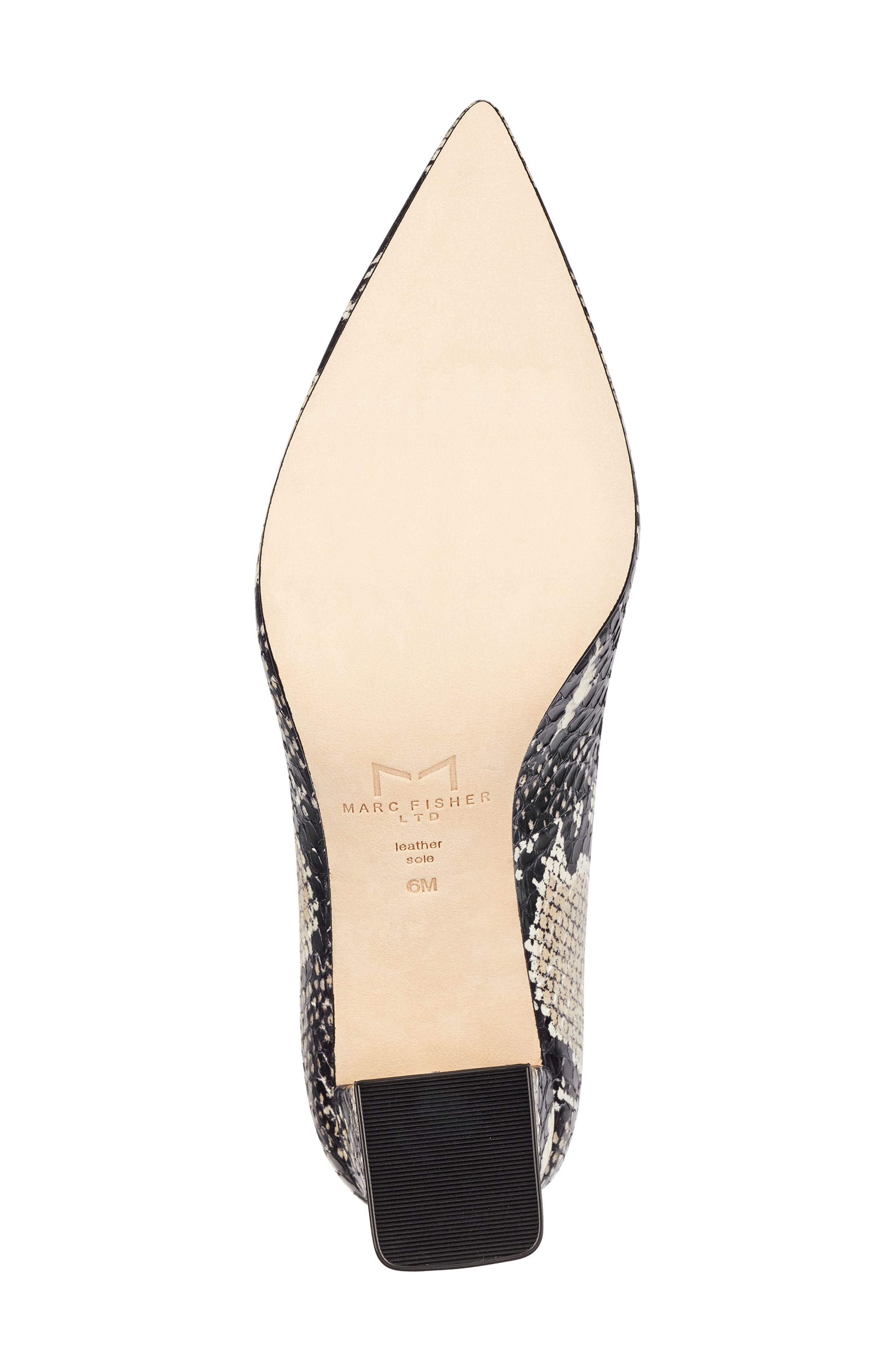 'Zala' Pump,                             Alternate thumbnail 6, color,                             BEIGE/ BLACK SNAKE PRINT