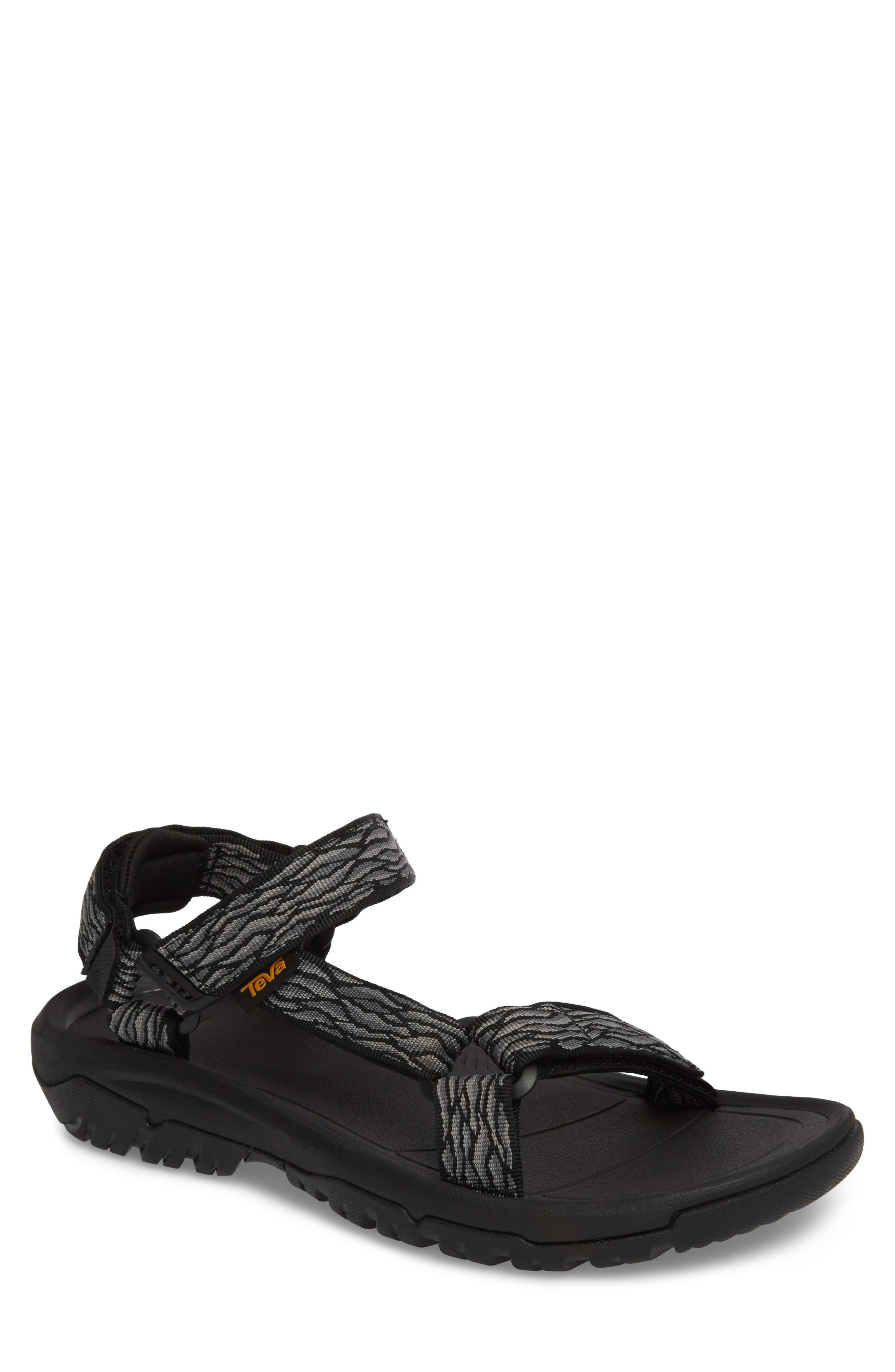 Hurricane XLT 2 Sandal,                         Main,                         color, BLACK/ GREY NYLON