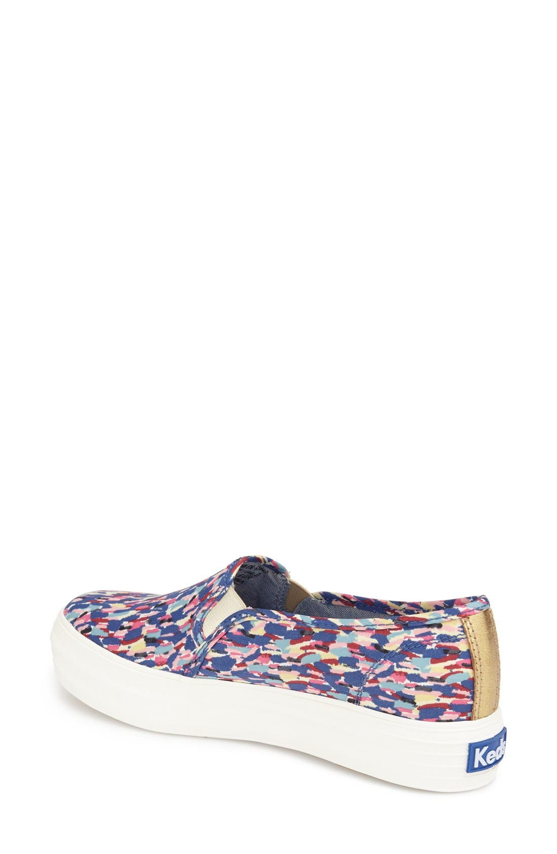 Triple Decker Slip-On Platform Sneaker,                             Alternate thumbnail 18, color,