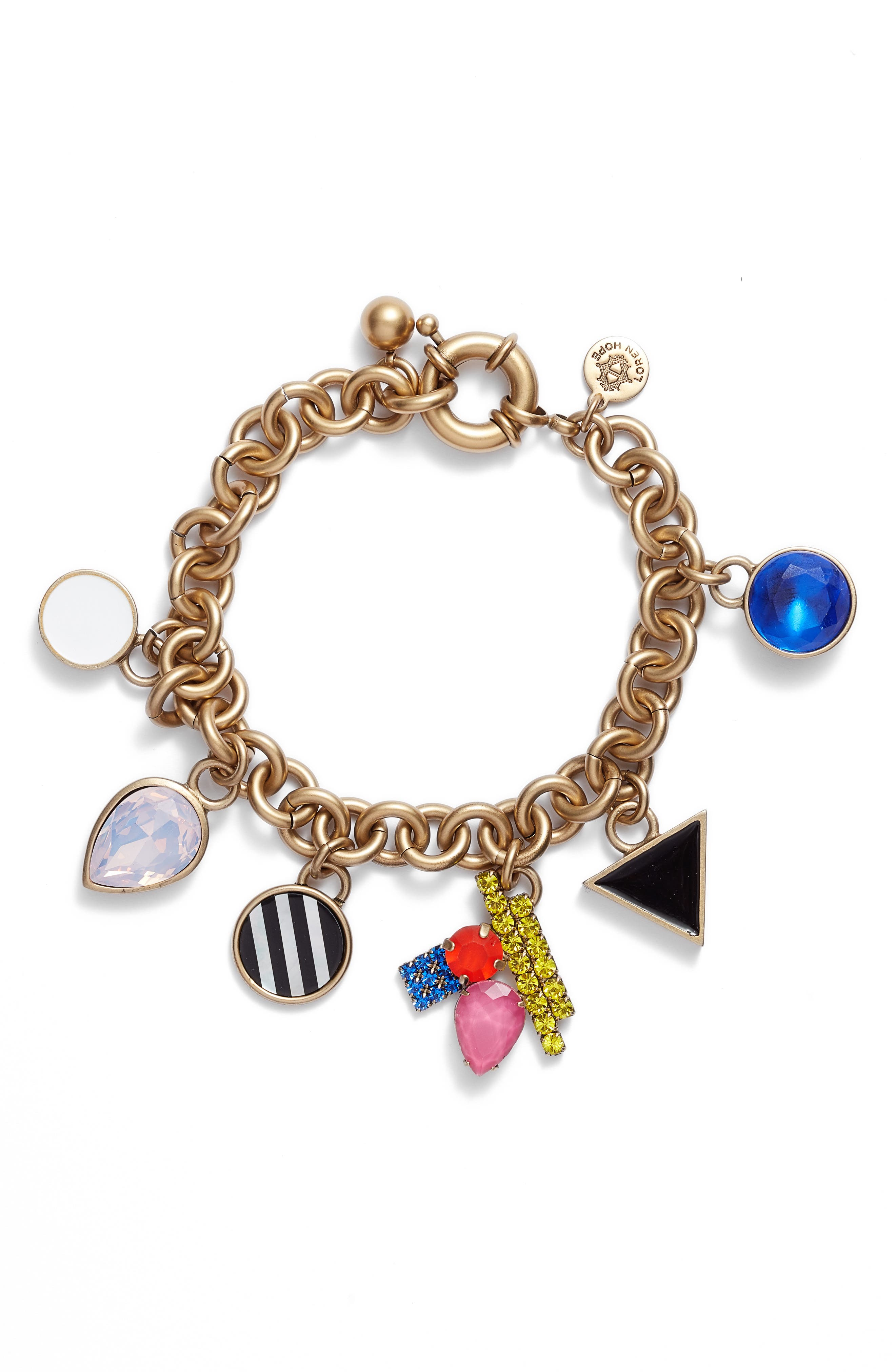 Avery Charm Bracelet,                             Main thumbnail 1, color,                             GOLD MULTI