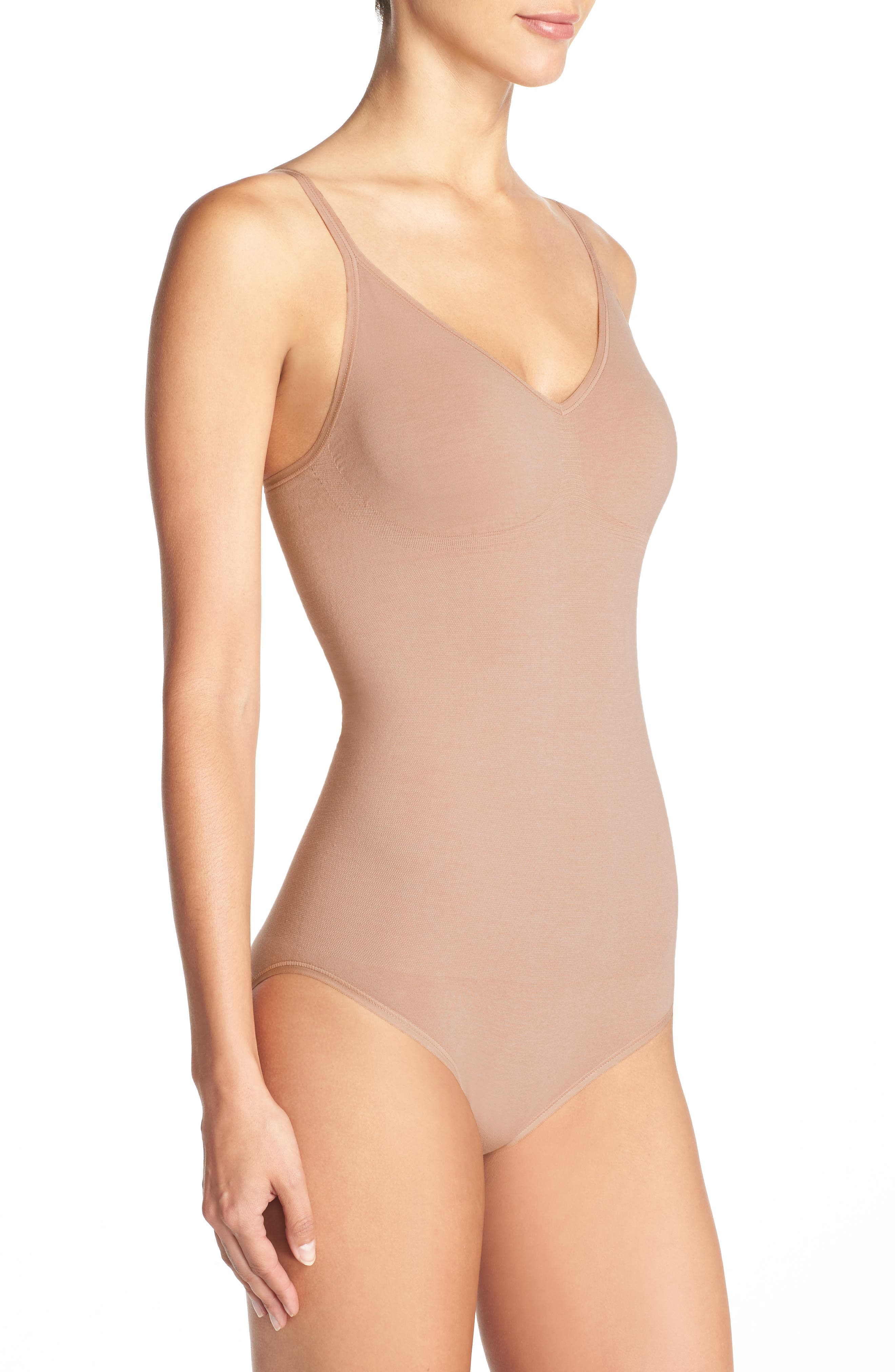 Conner Convertible Bodysuit,                             Alternate thumbnail 4, color,                             ALMOND
