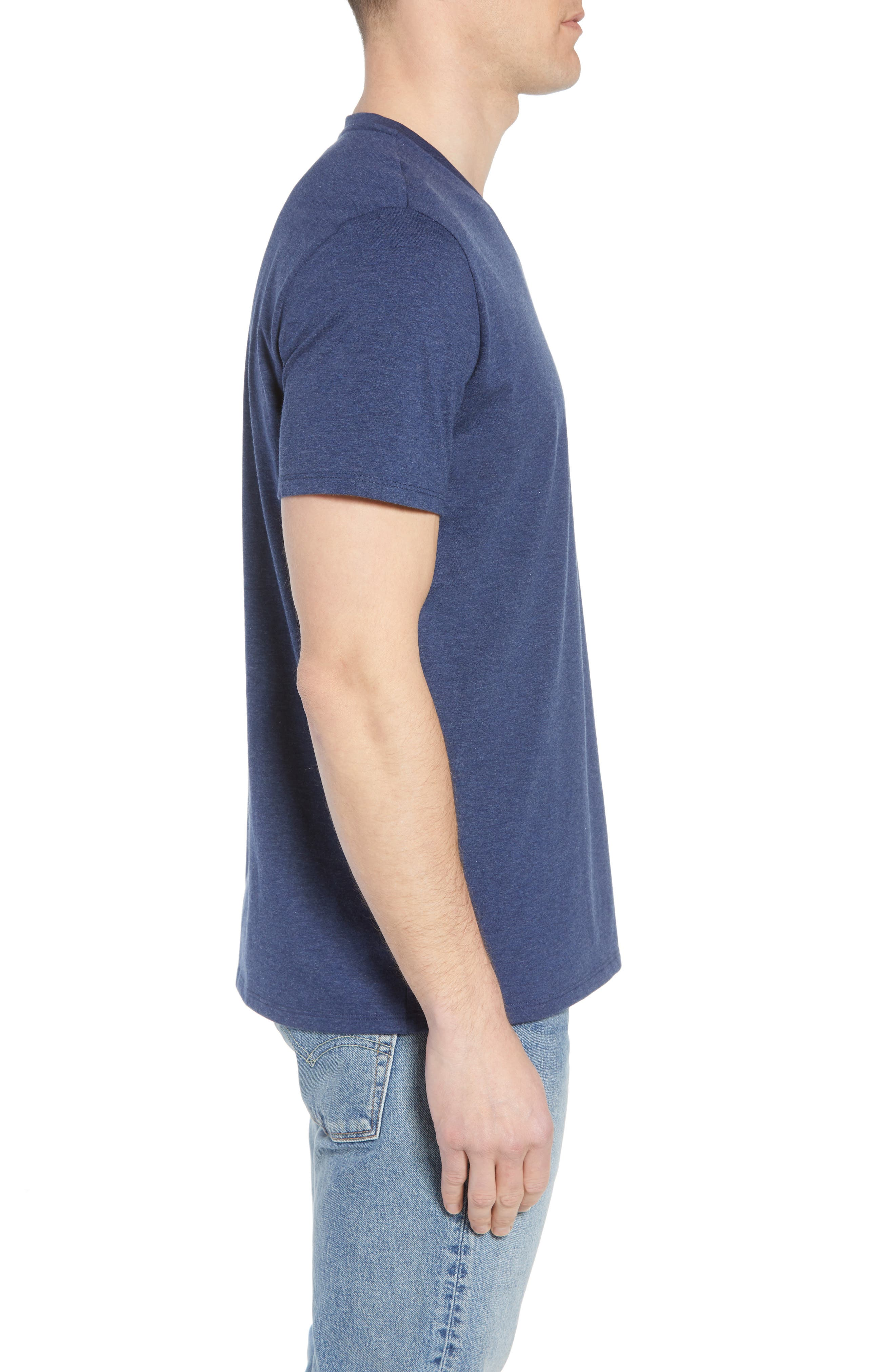 V-Neck Cotton T-Shirt,                             Alternate thumbnail 14, color,