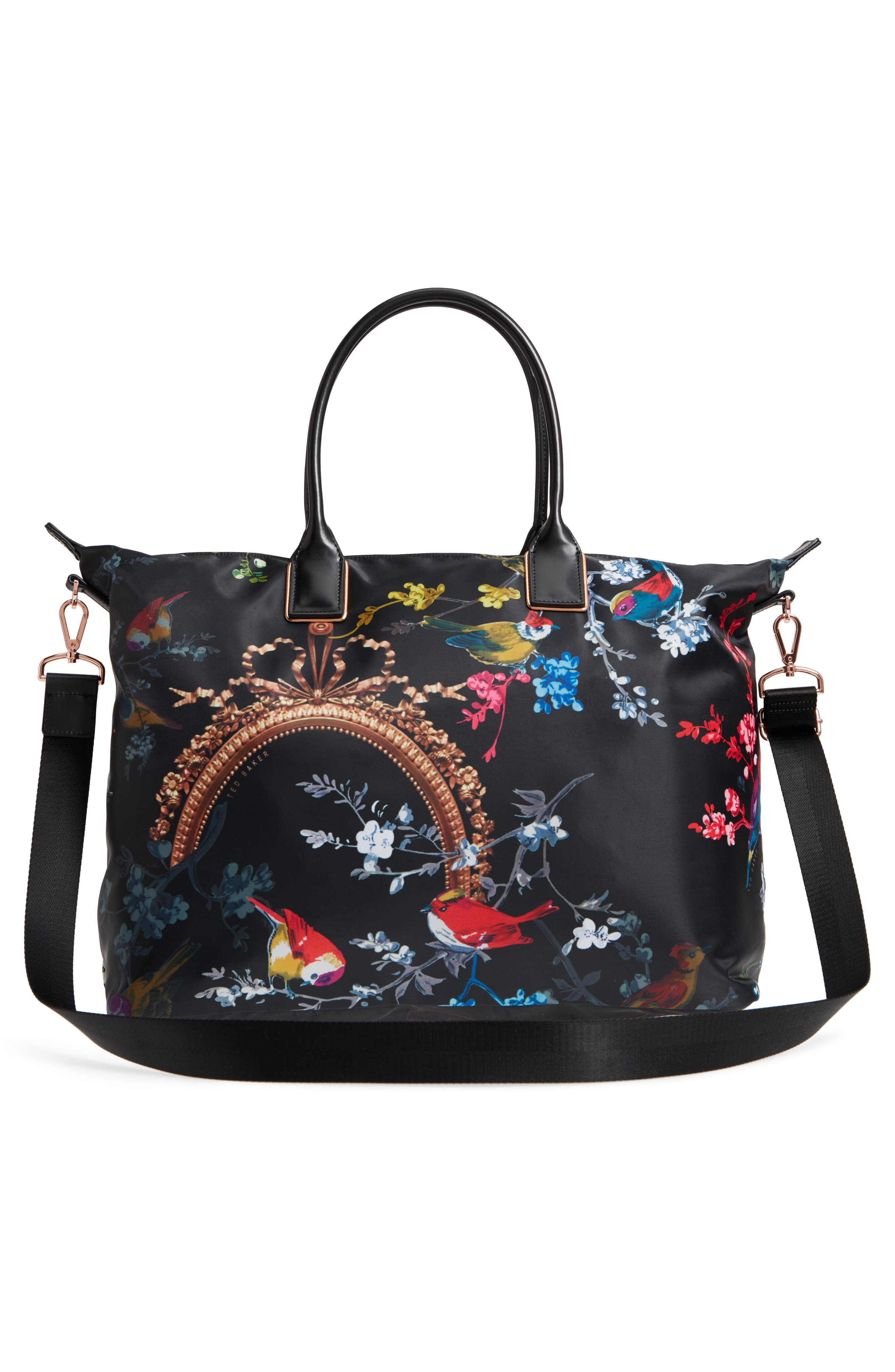 Large Opulent Fauna Tote,                             Alternate thumbnail 3, color,