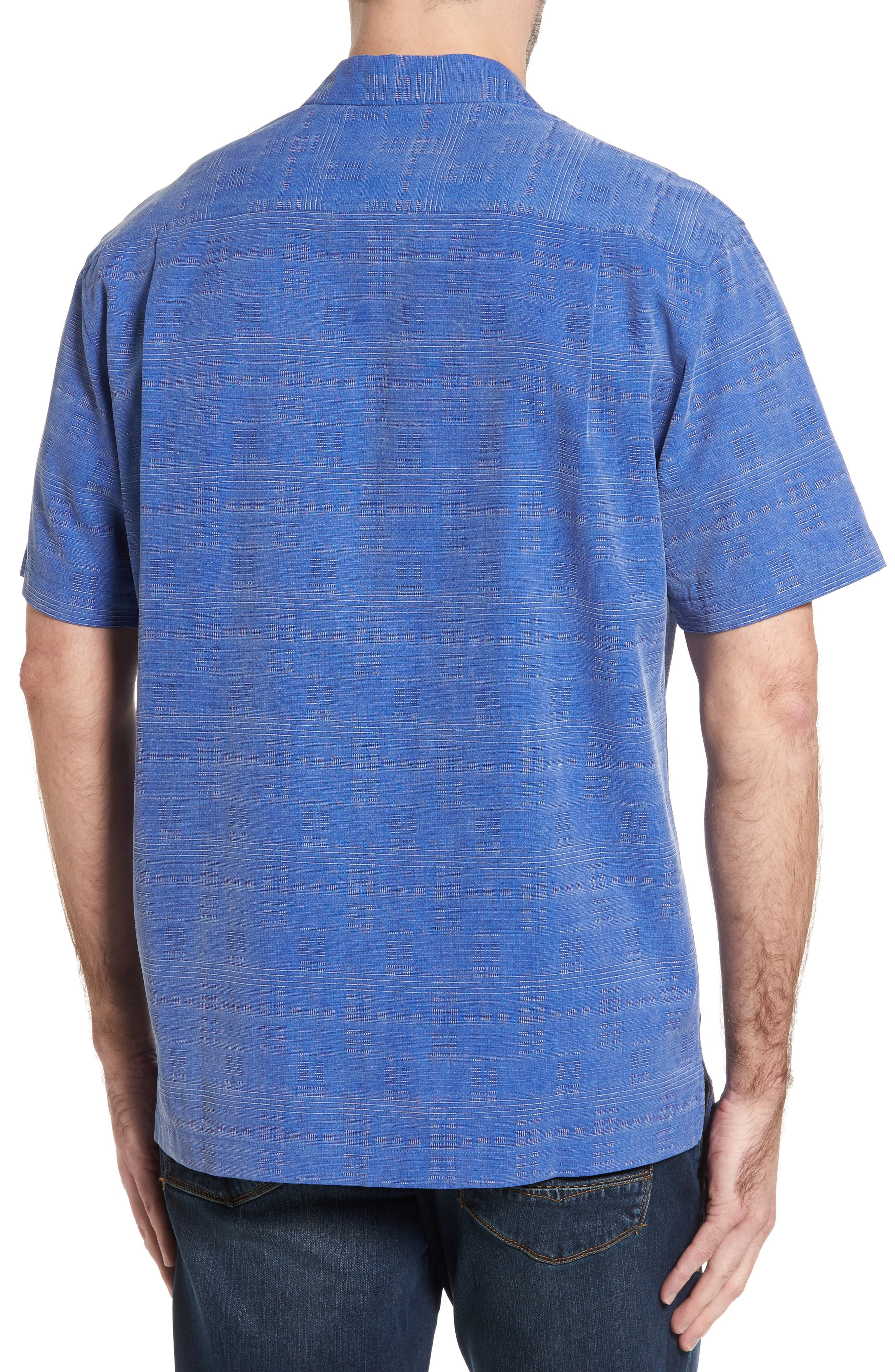 'Geo-Rific Jacquard' Original Fit Silk Camp Shirt,                             Alternate thumbnail 15, color,