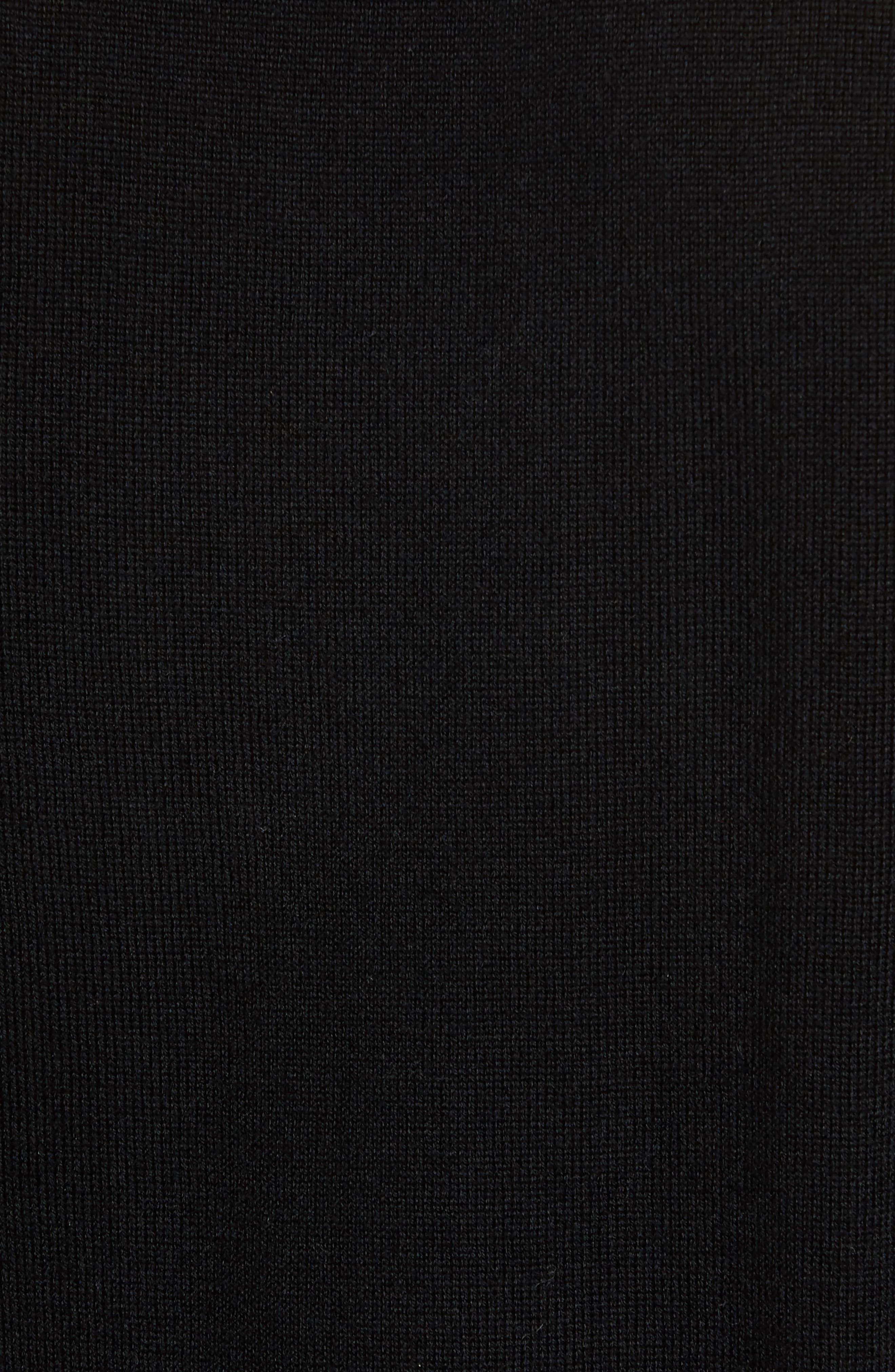 Merino V-Neck Sweater,                             Alternate thumbnail 5, color,                             001