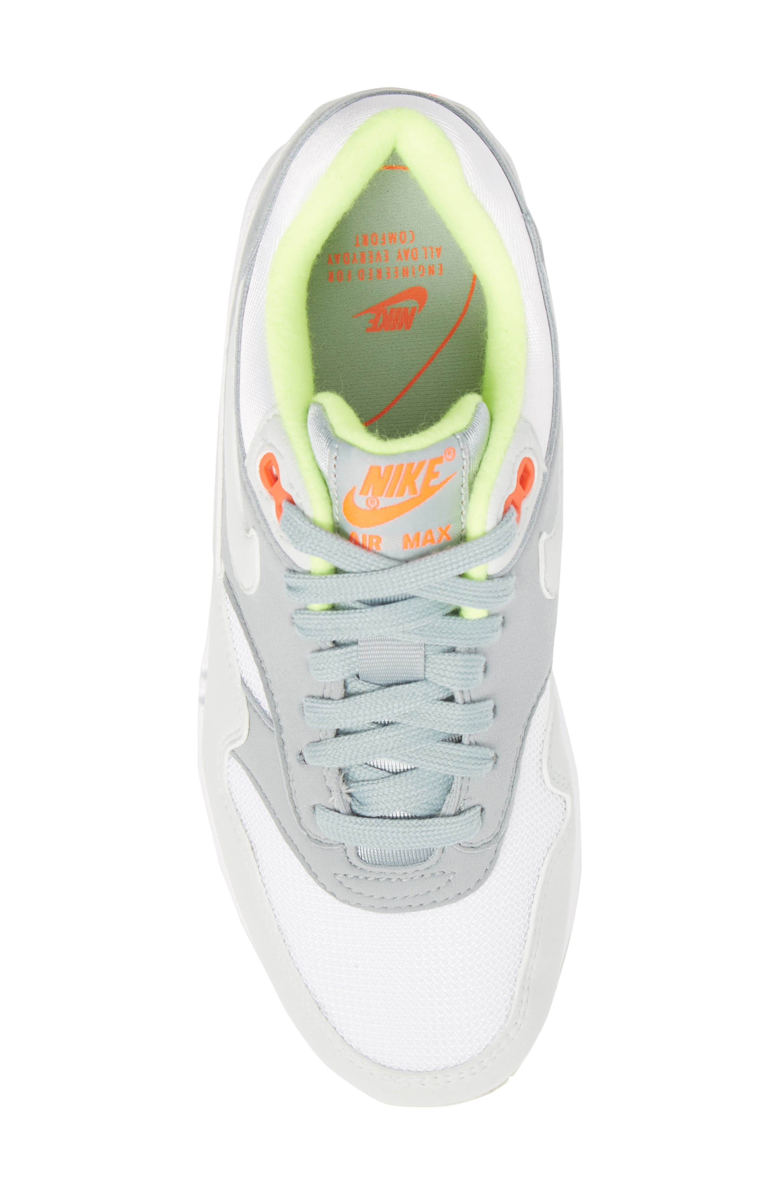 'Air Max 1 ND' Sneaker,                             Alternate thumbnail 5, color,                             WHITE/ BARELY GREY