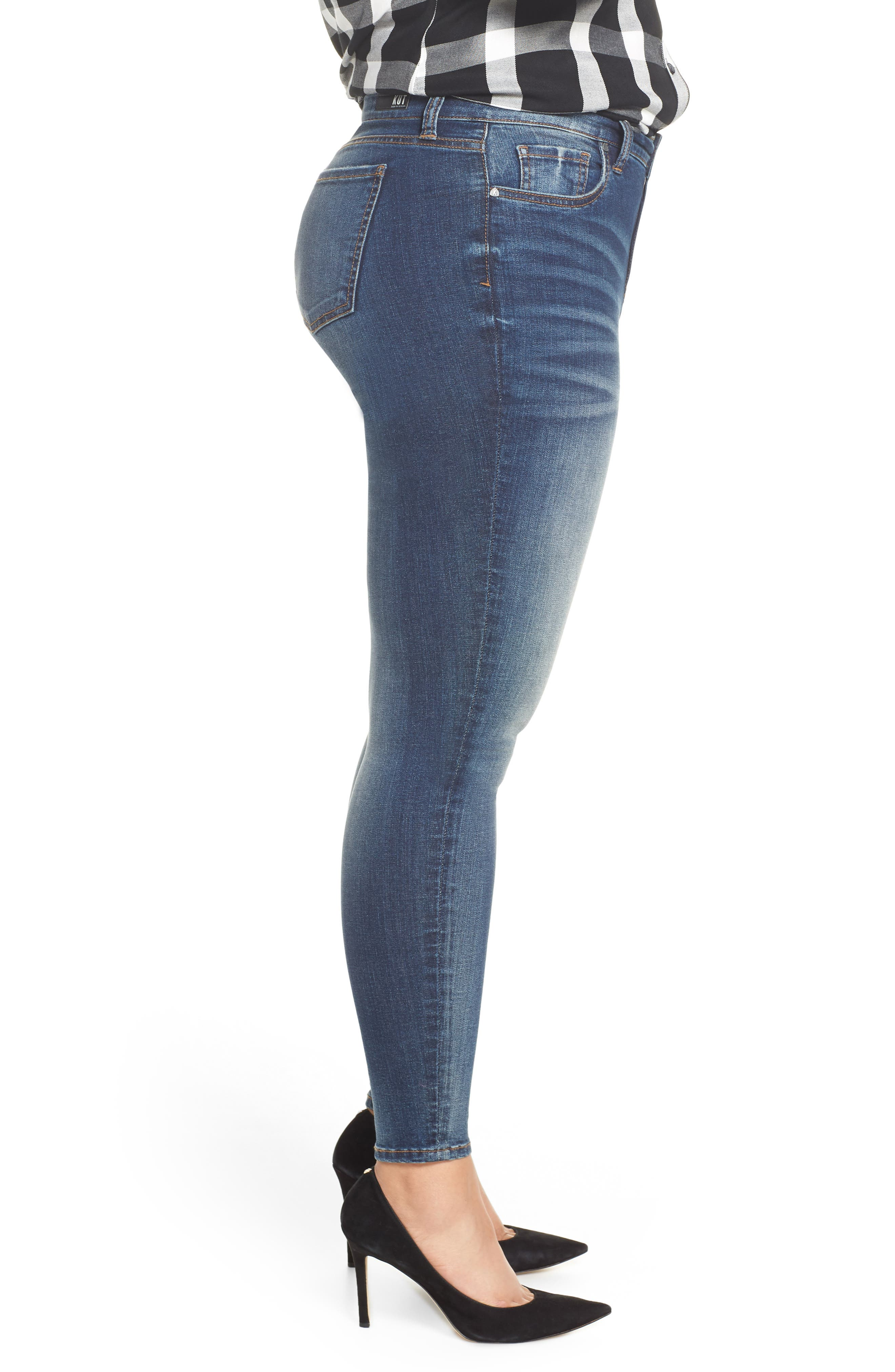 Donna High Waist Skinny Jeans,                             Alternate thumbnail 3, color,                             PLUSH