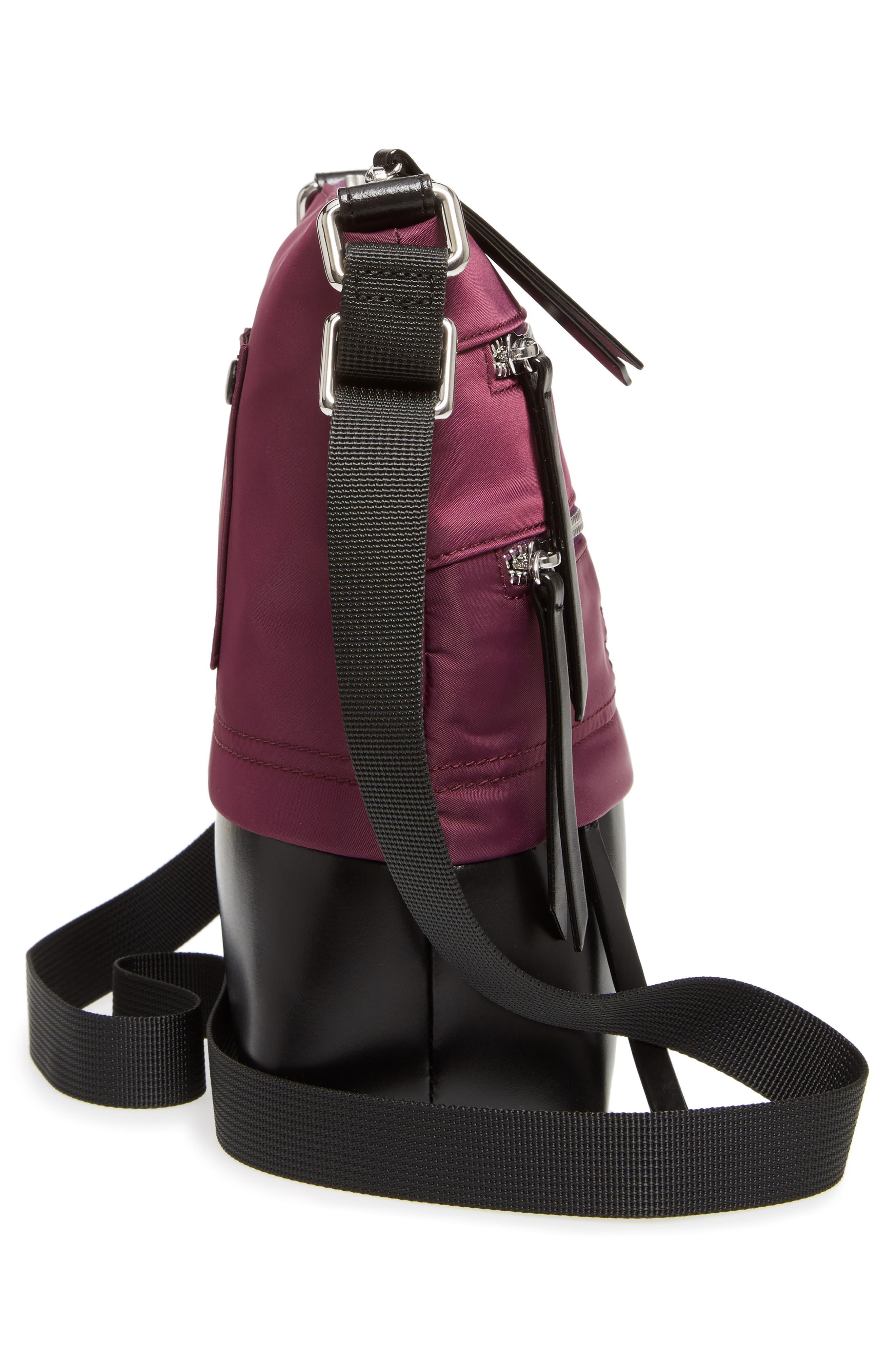 Wanda RFID Nylon & Leather Crossbody Bag,                             Alternate thumbnail 5, color,                             500