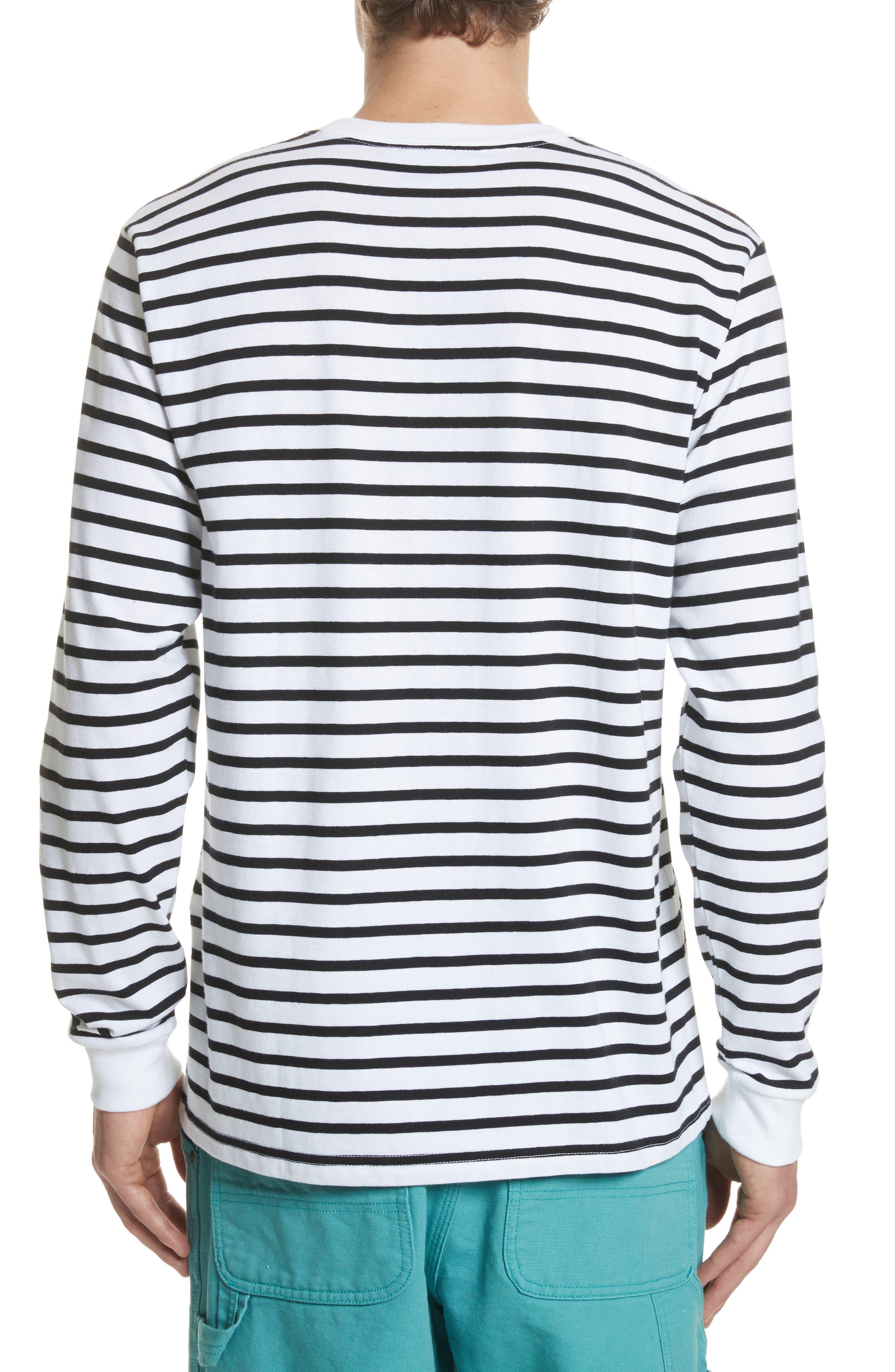Stripe Long Sleeve T-Shirt,                             Alternate thumbnail 2, color,