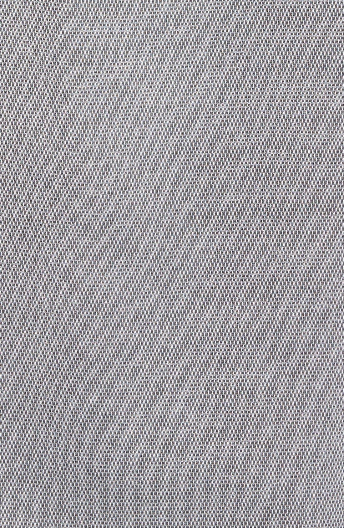 'Havana Cloth' Regular Fit Short Sleeve Silk & Cotton Sport Shirt,                             Alternate thumbnail 4, color,                             BLACK