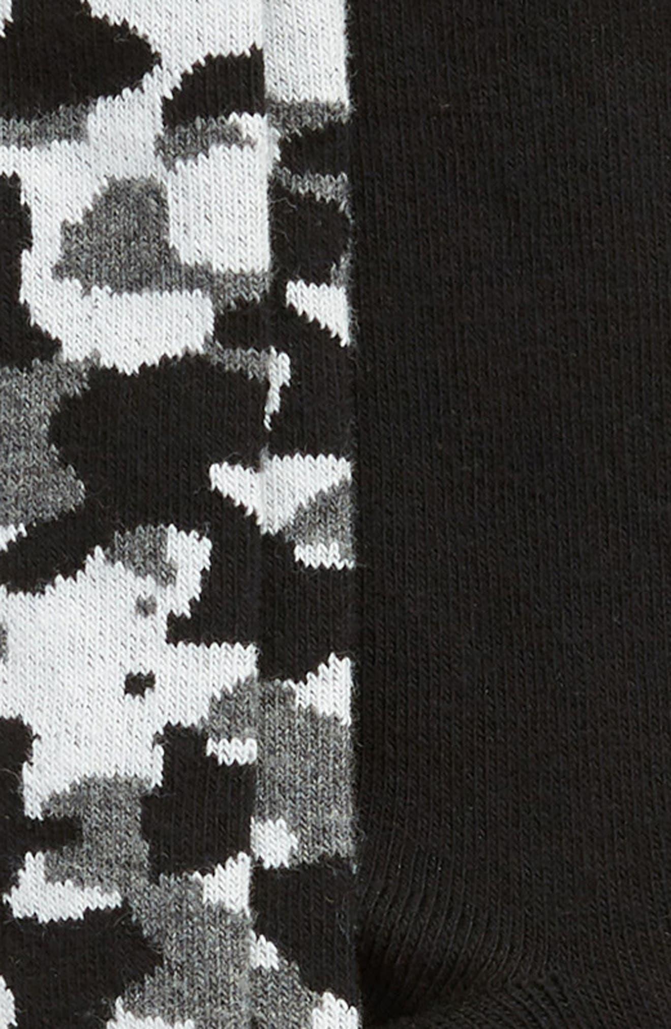 2-Pack Camo Cotton Blend Socks,                             Alternate thumbnail 2, color,                             BLACK