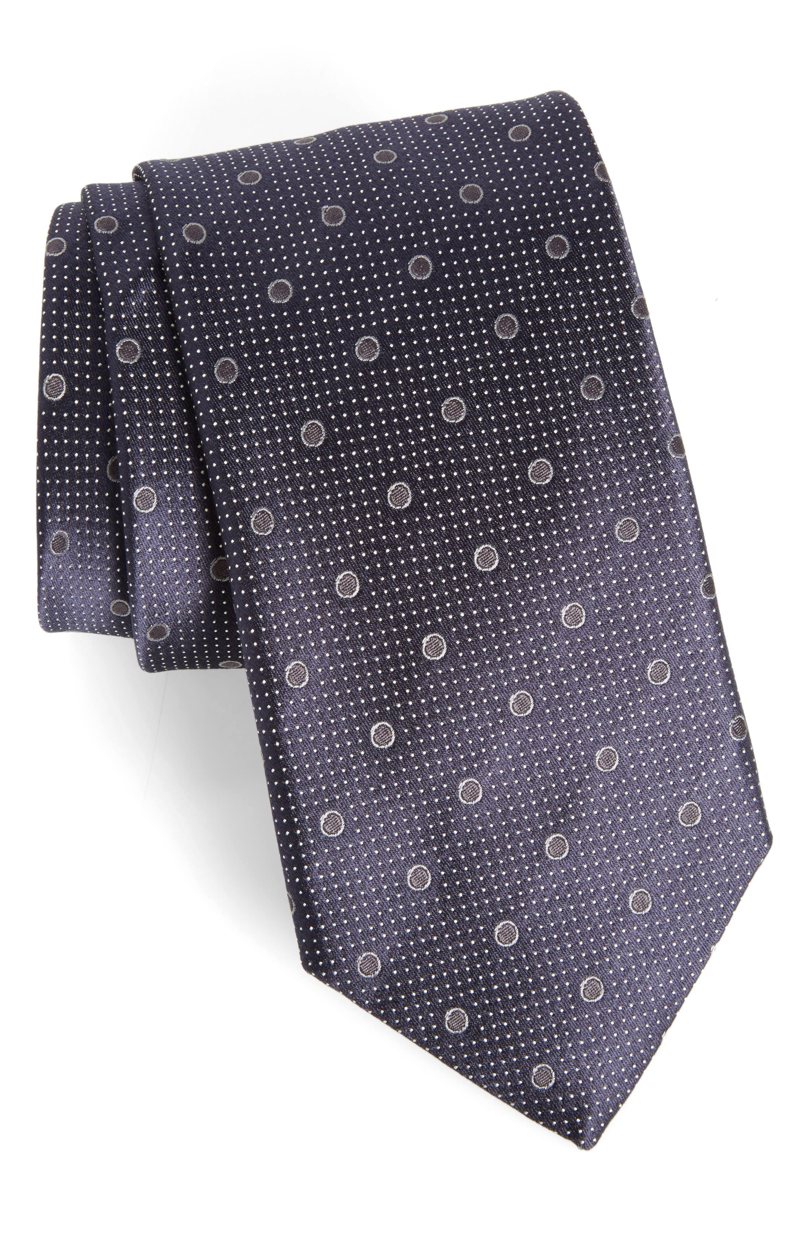 Dot Silk Tie,                             Main thumbnail 1, color,                             410