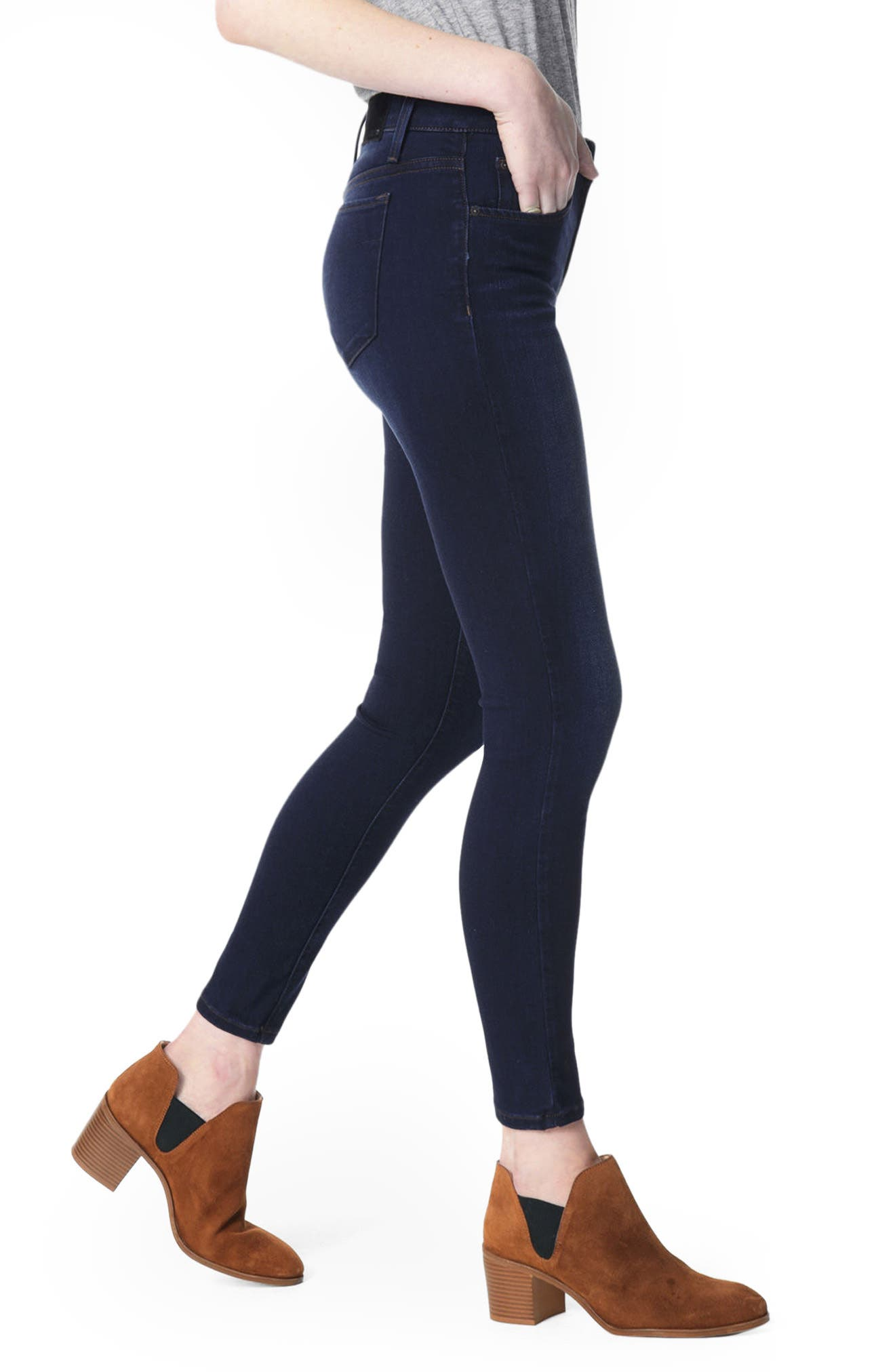 'Icon' Ankle Skinny Jeans,                             Alternate thumbnail 2, color,                             SELMA