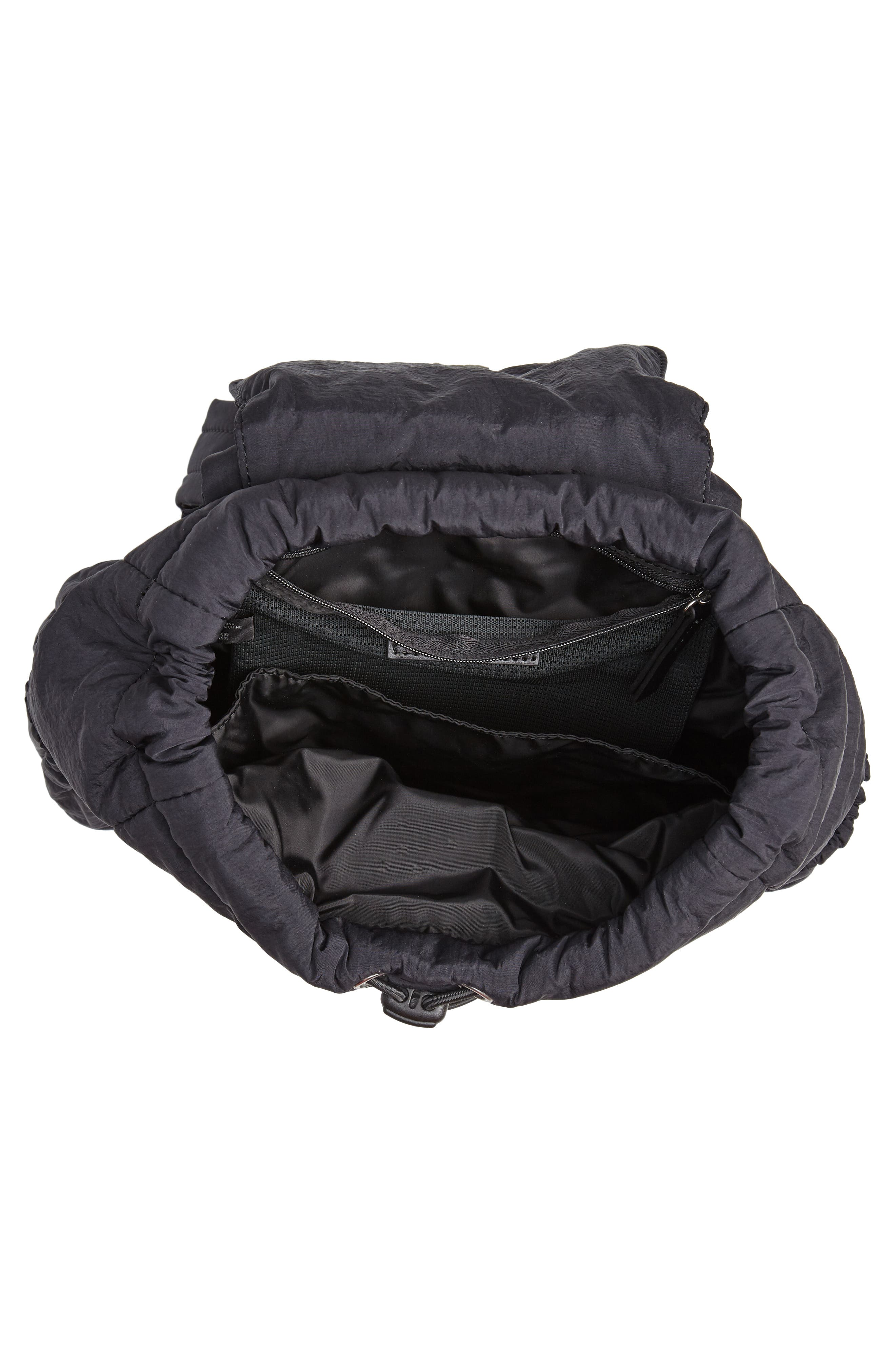 Teri Nylon Backpack,                             Alternate thumbnail 4, color,                             BLACK
