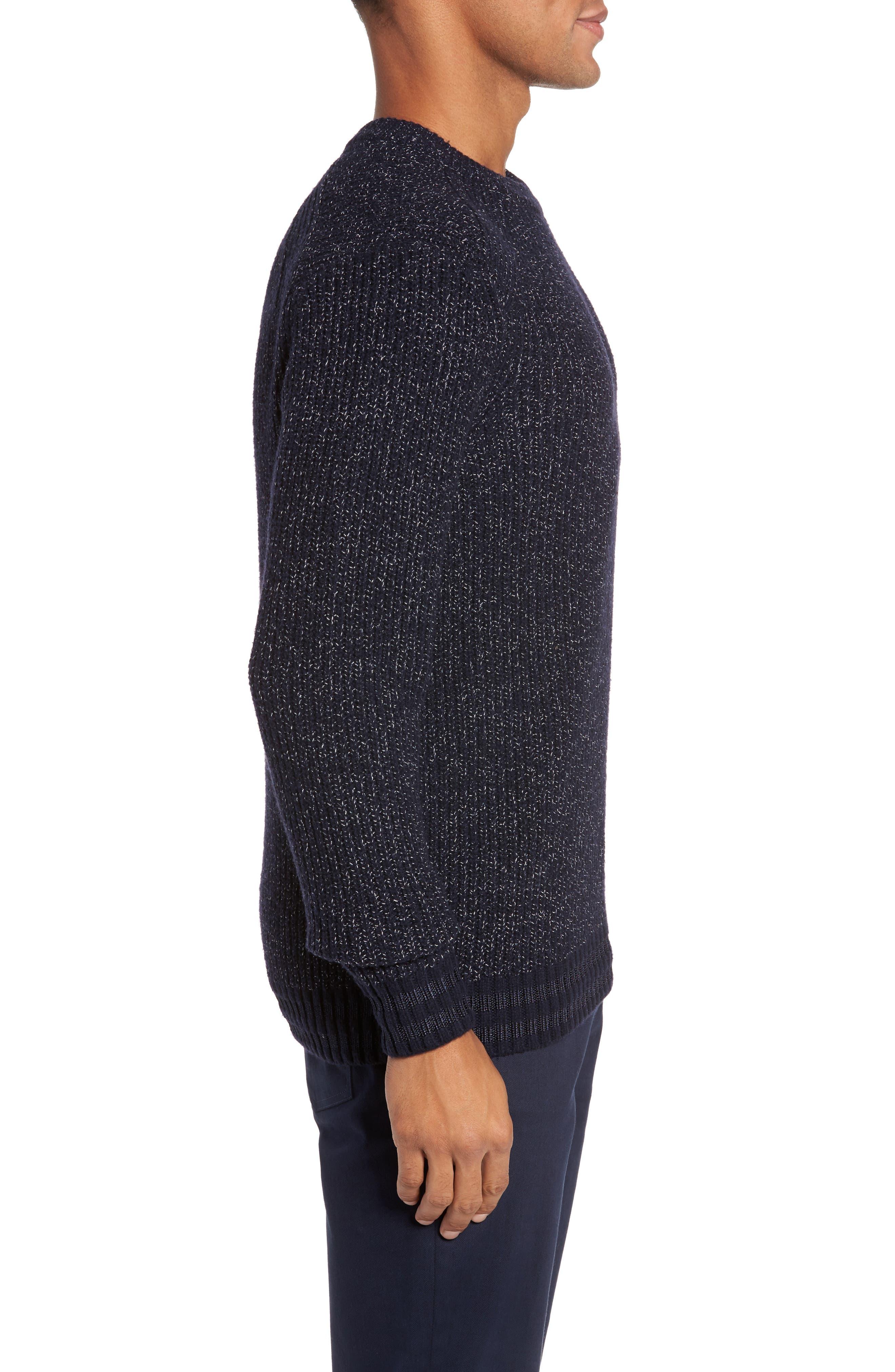 Textured Raglan Sweater,                             Alternate thumbnail 3, color,                             410