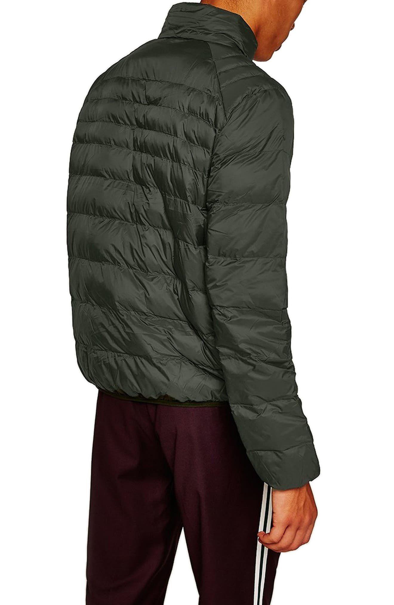Mitchell Quiilted Nylon Jacket,                             Alternate thumbnail 2, color,                             GREEN