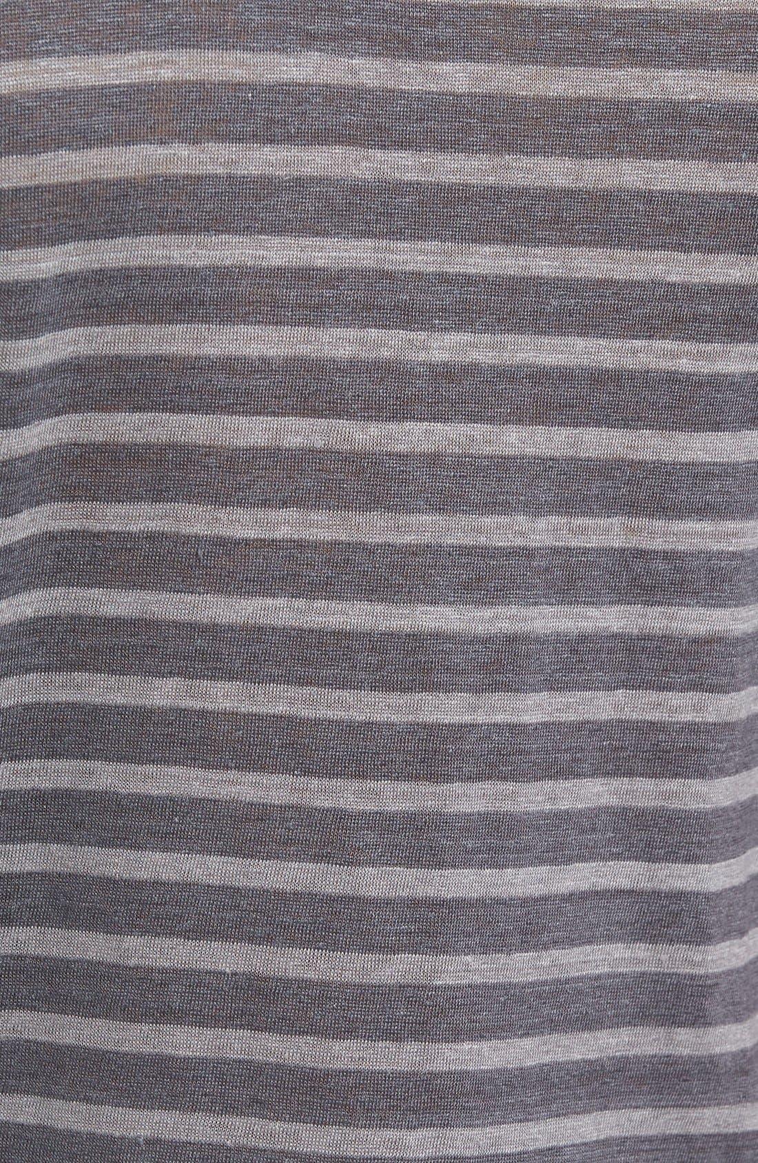 Stripe Linen T-Shirt,                             Alternate thumbnail 5, color,                             036