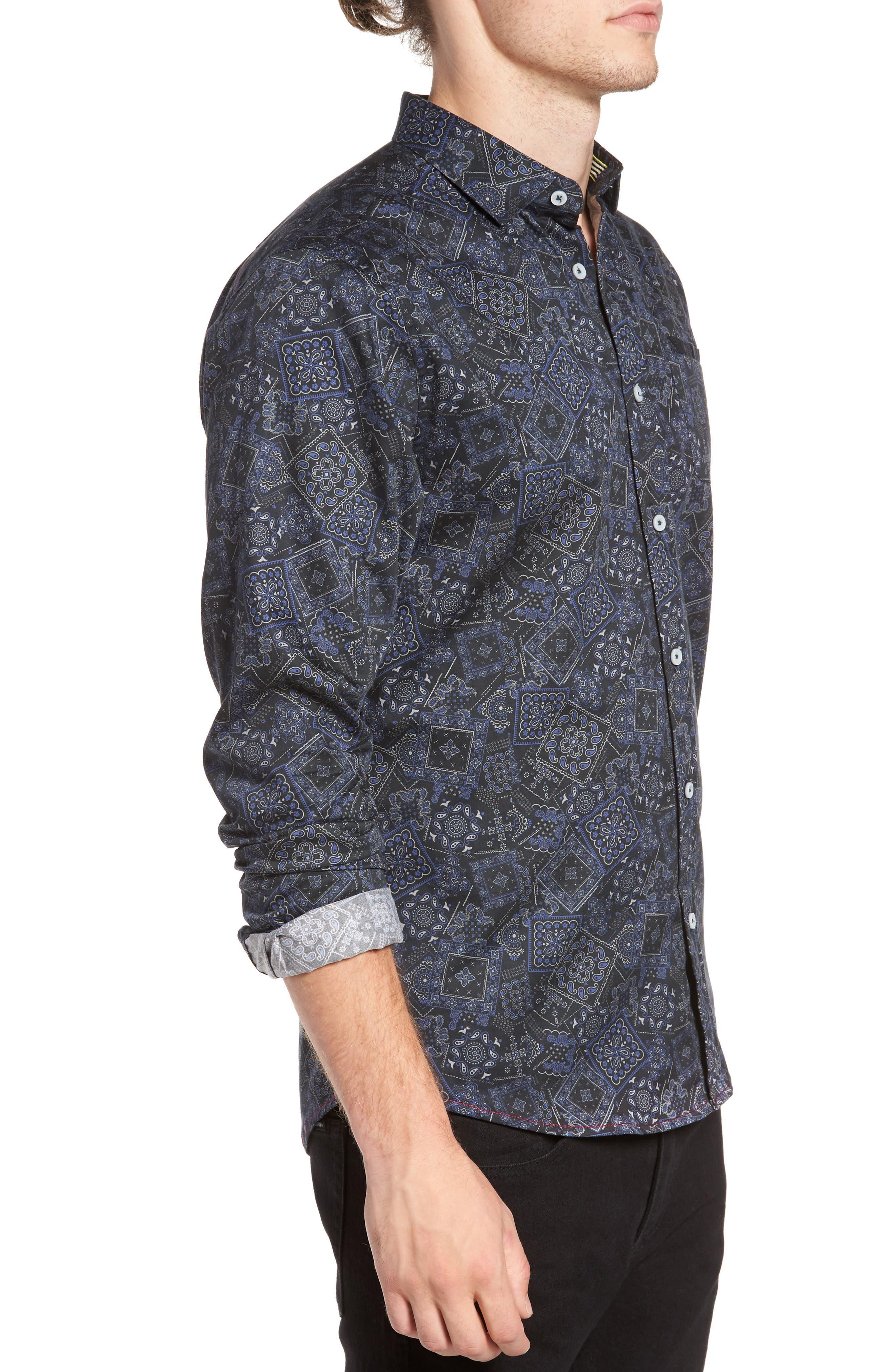 Bandana Woven Shirt,                             Alternate thumbnail 3, color,                             400